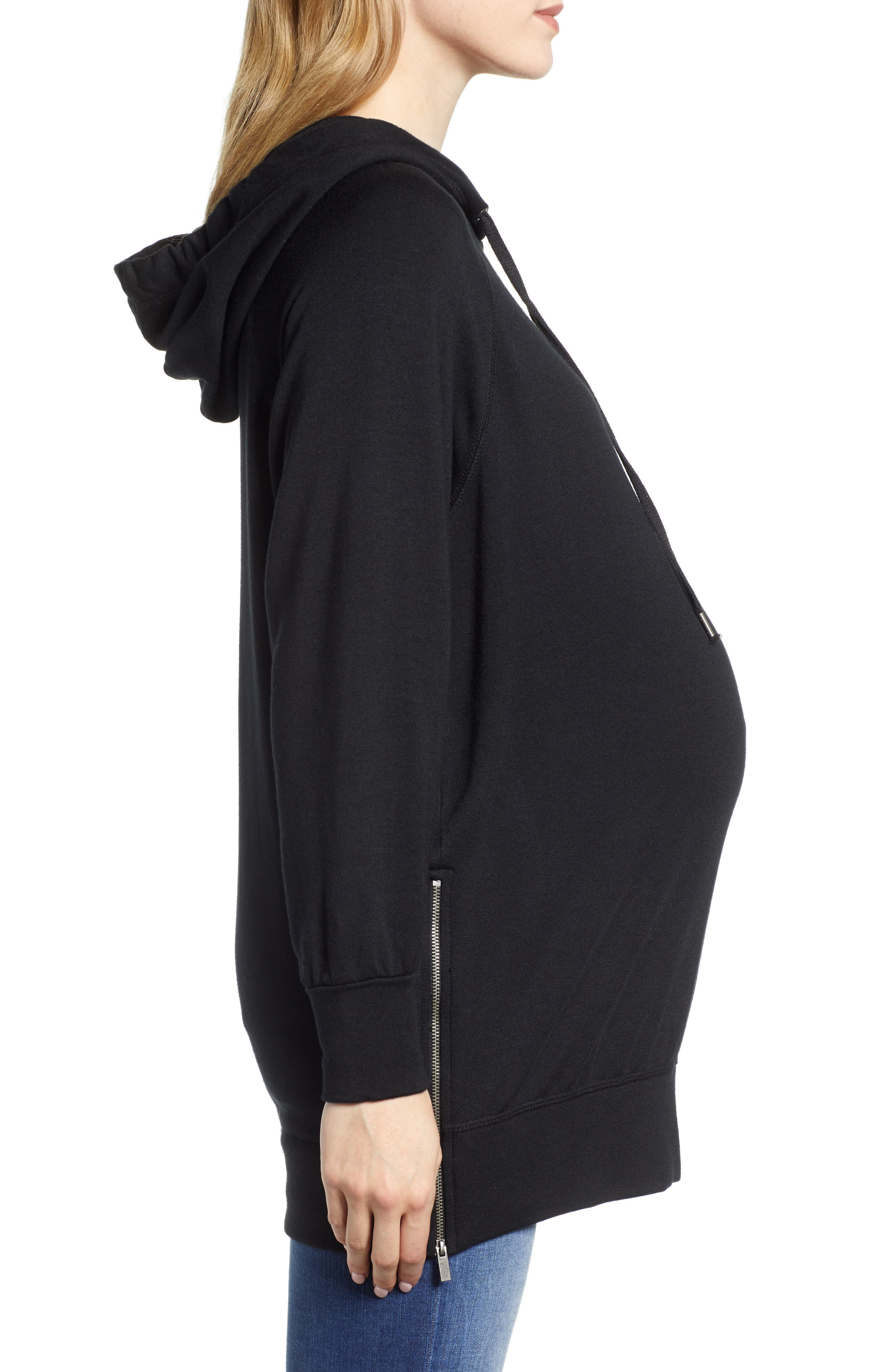 Supersoft Maternity Sweatshirt,                             Alternate thumbnail 3, color,                             001