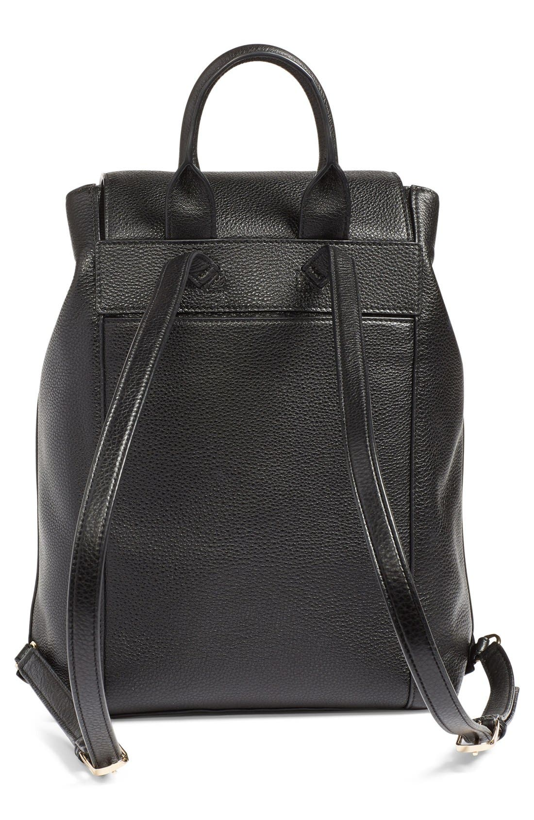 TORY BURCH,                             'Harper' Leather Backpack,                             Alternate thumbnail 3, color,                             012