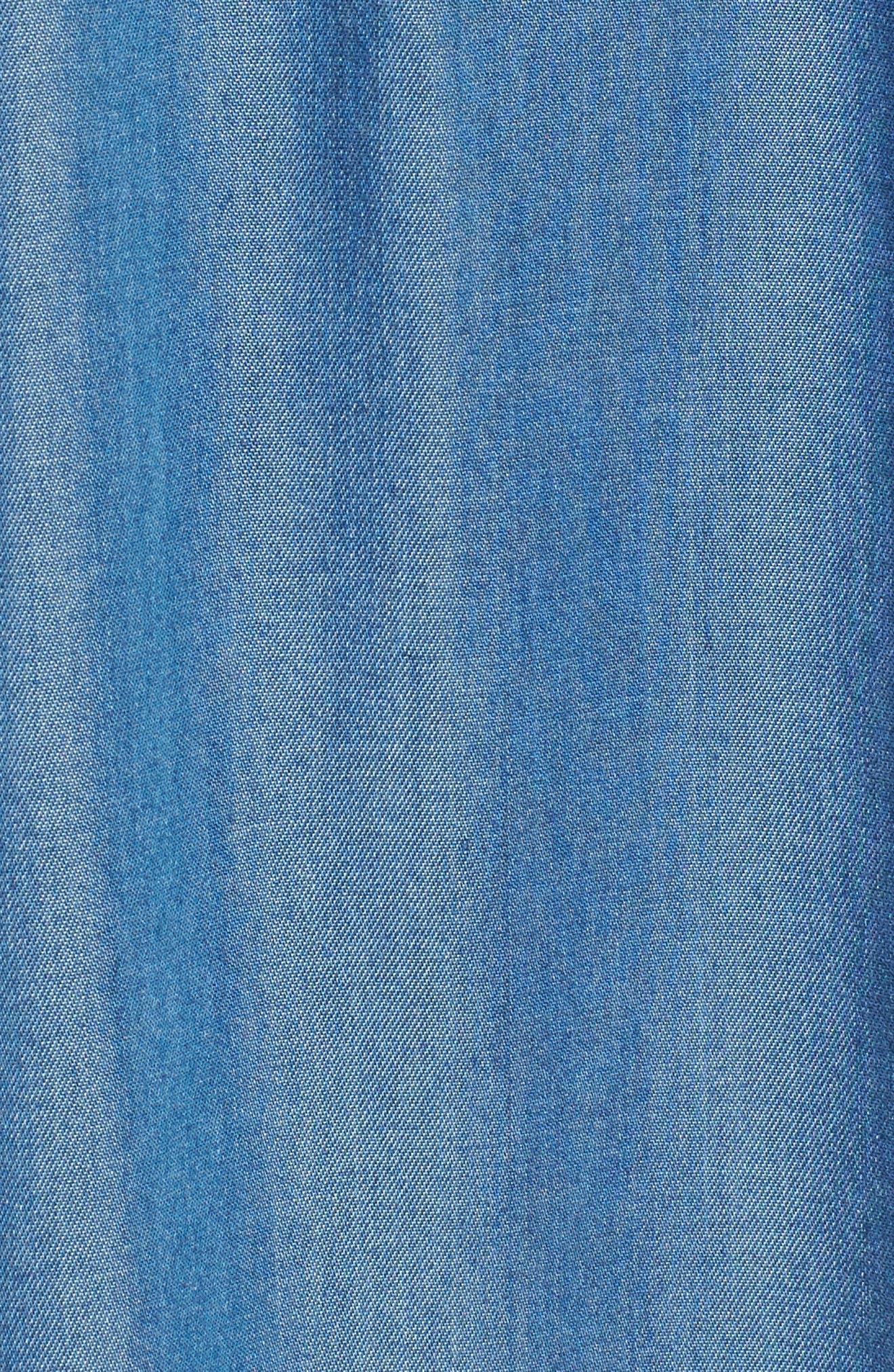 Off the Shoulder Midi Dress,                             Alternate thumbnail 5, color,                             401