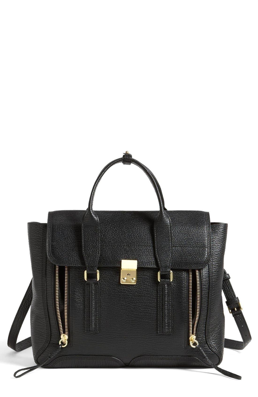 'Large Pashli' Leather Satchel, Main, color, 001