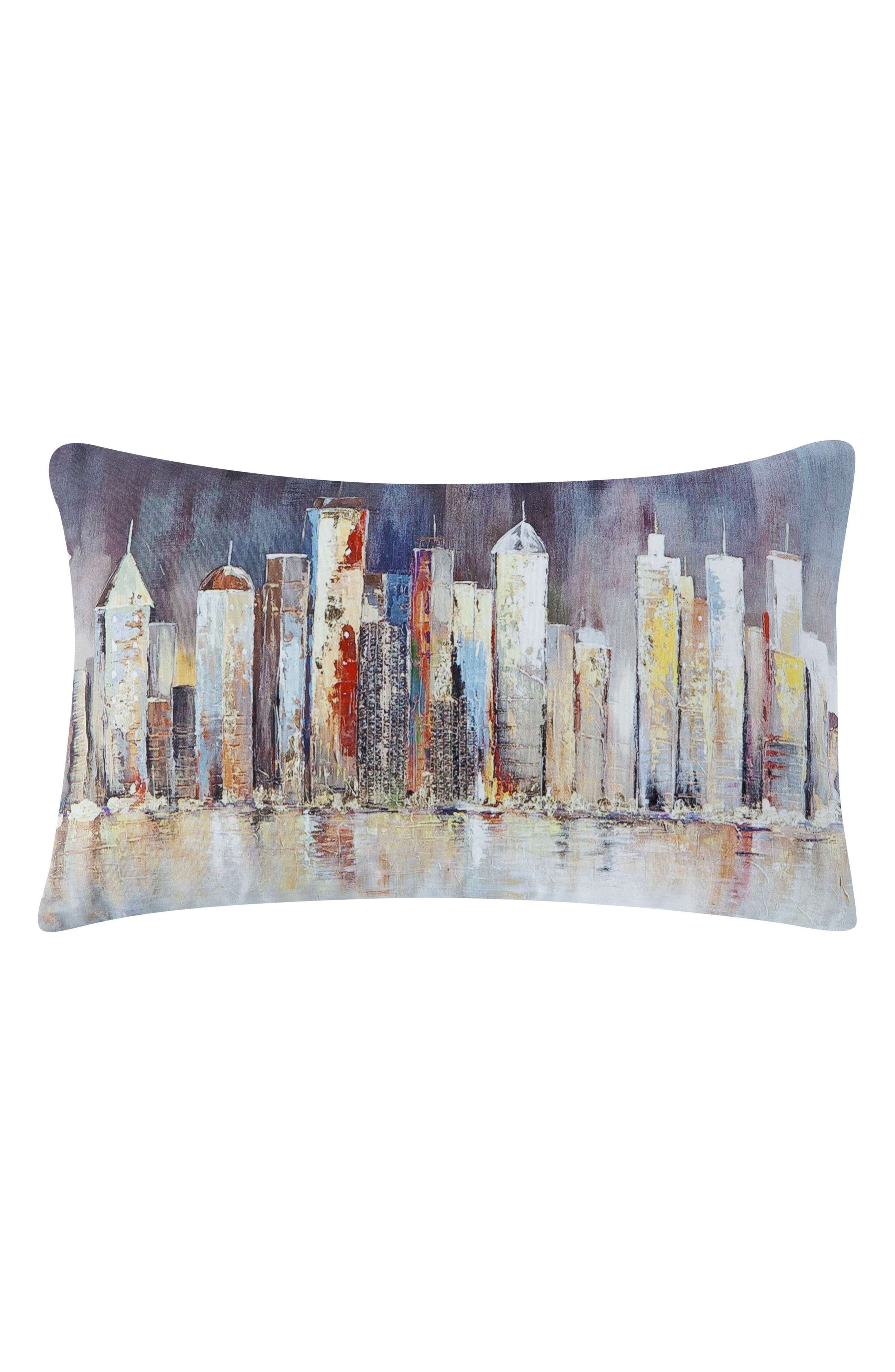 Madeline Skyline Accent Pillow,                         Main,                         color, GREY MULTI