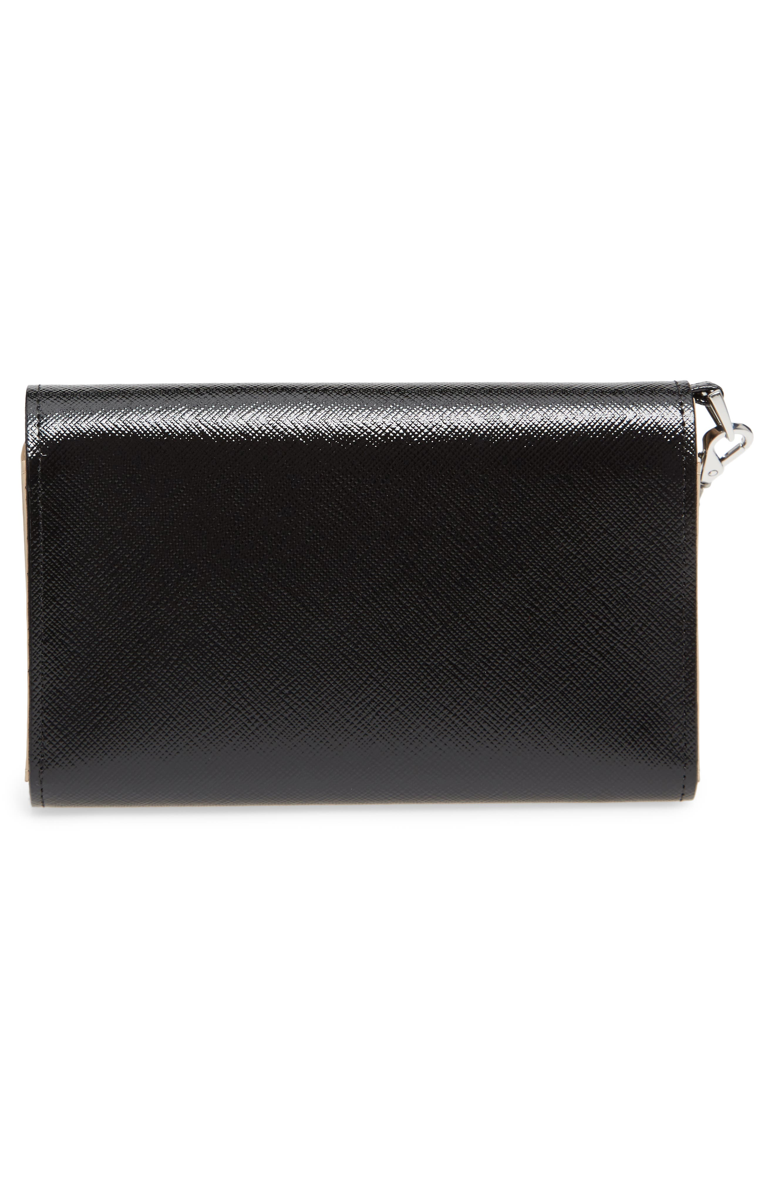 Trifold Leather Wallet,                             Alternate thumbnail 3, color,                             002