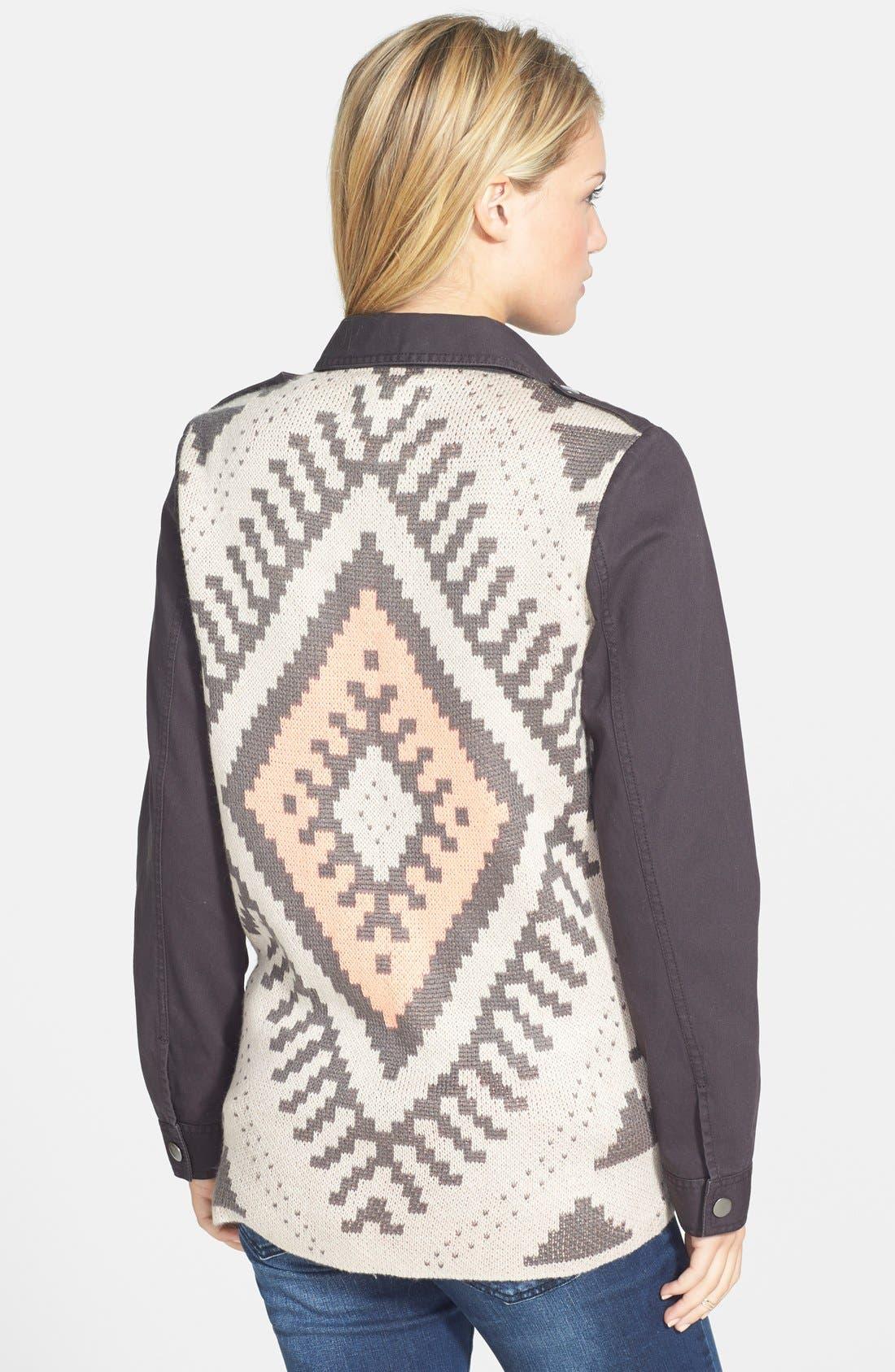 BLU PEPPER Geo Knit Back Jacket, Main, color, 020