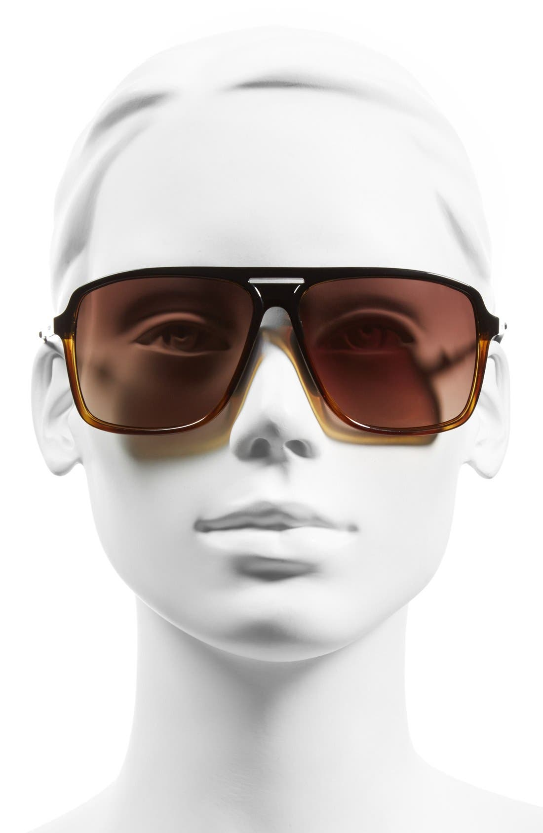 'Hotwax' 60mm Navigator Sunglasses,                             Alternate thumbnail 2, color,                             003