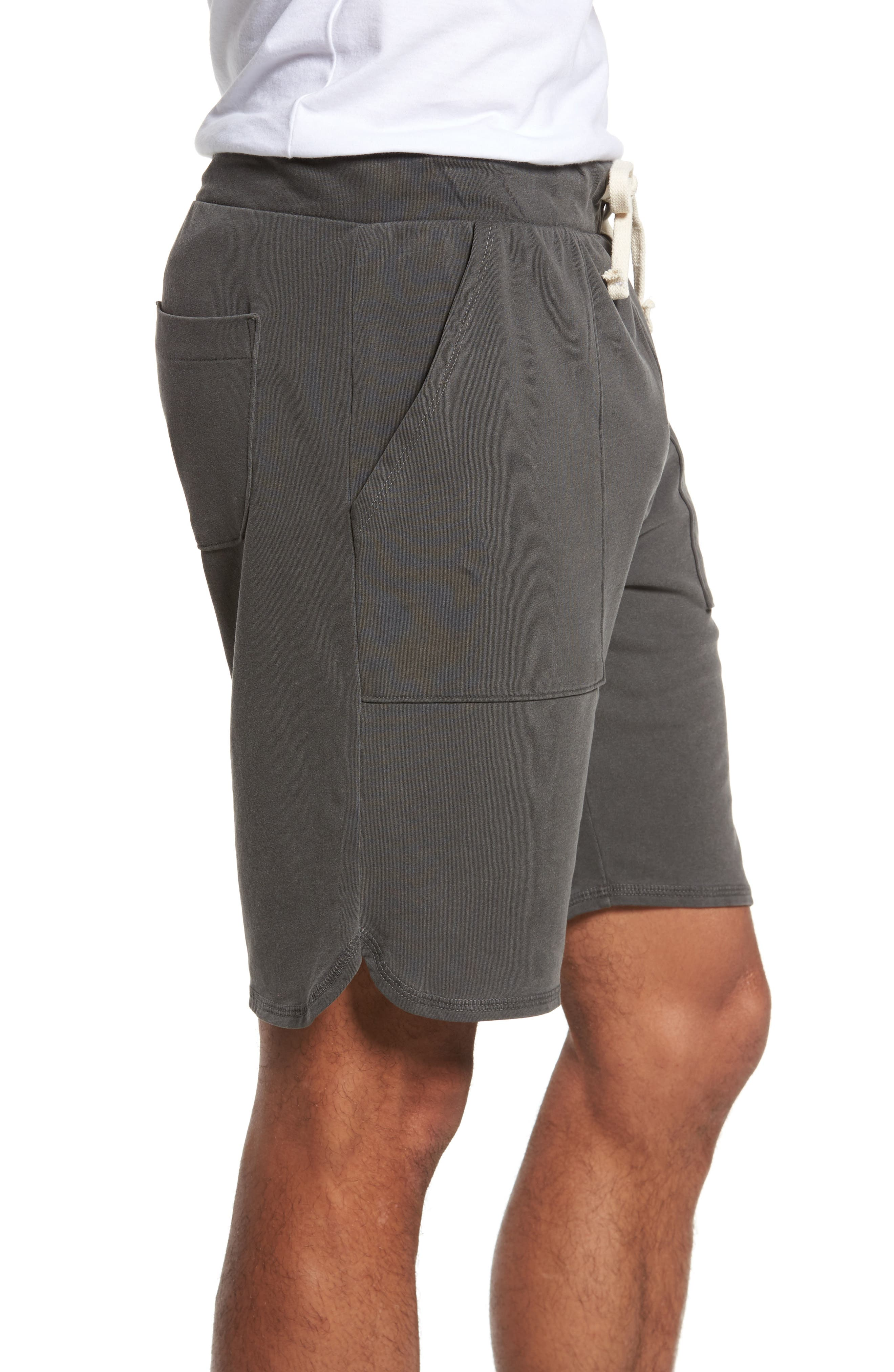Terrycloth Scallop Shorts,                             Alternate thumbnail 3, color,                             009
