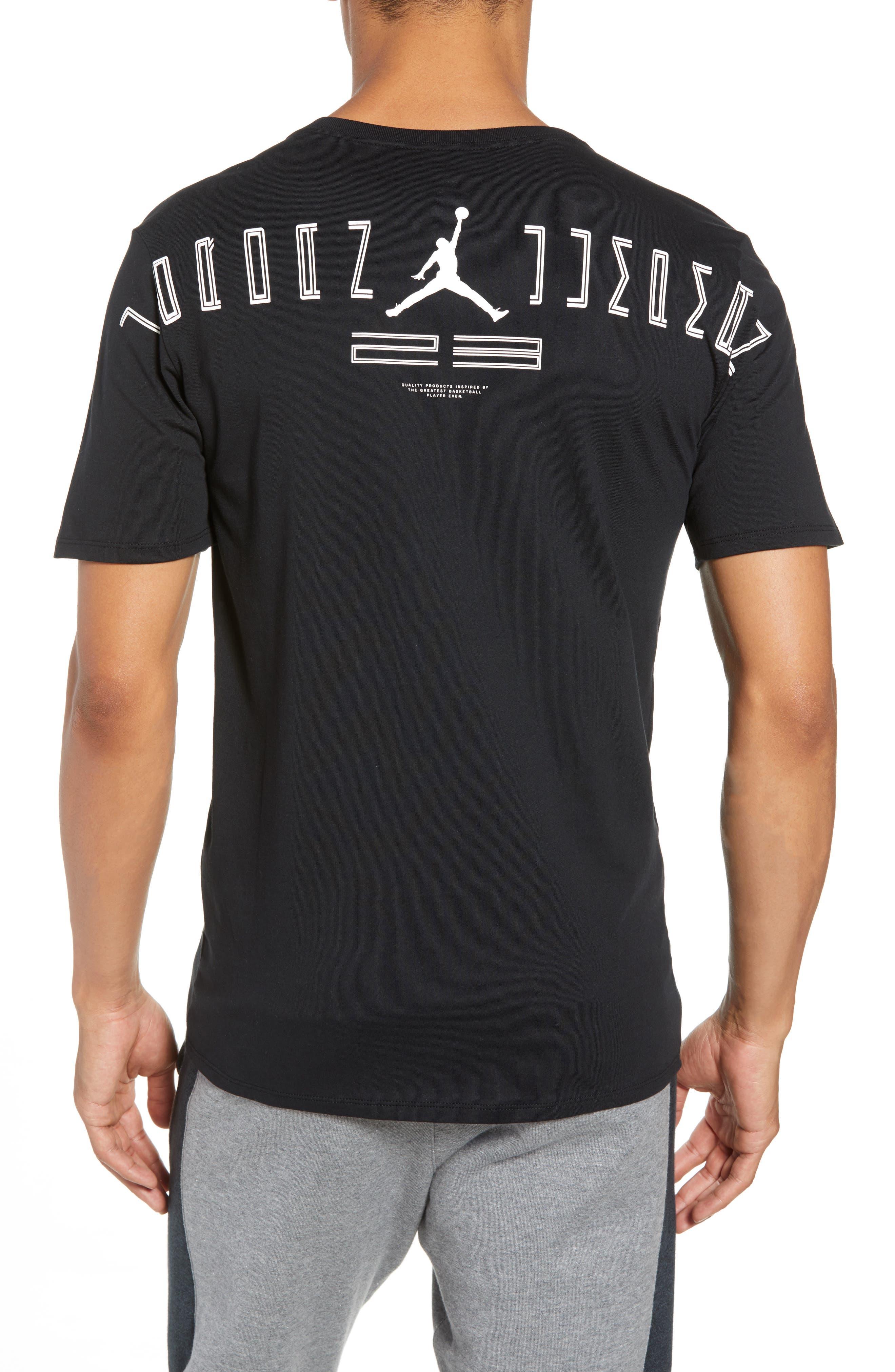 Graphic T-Shirt,                             Alternate thumbnail 2, color,                             BLACK/ WHITE
