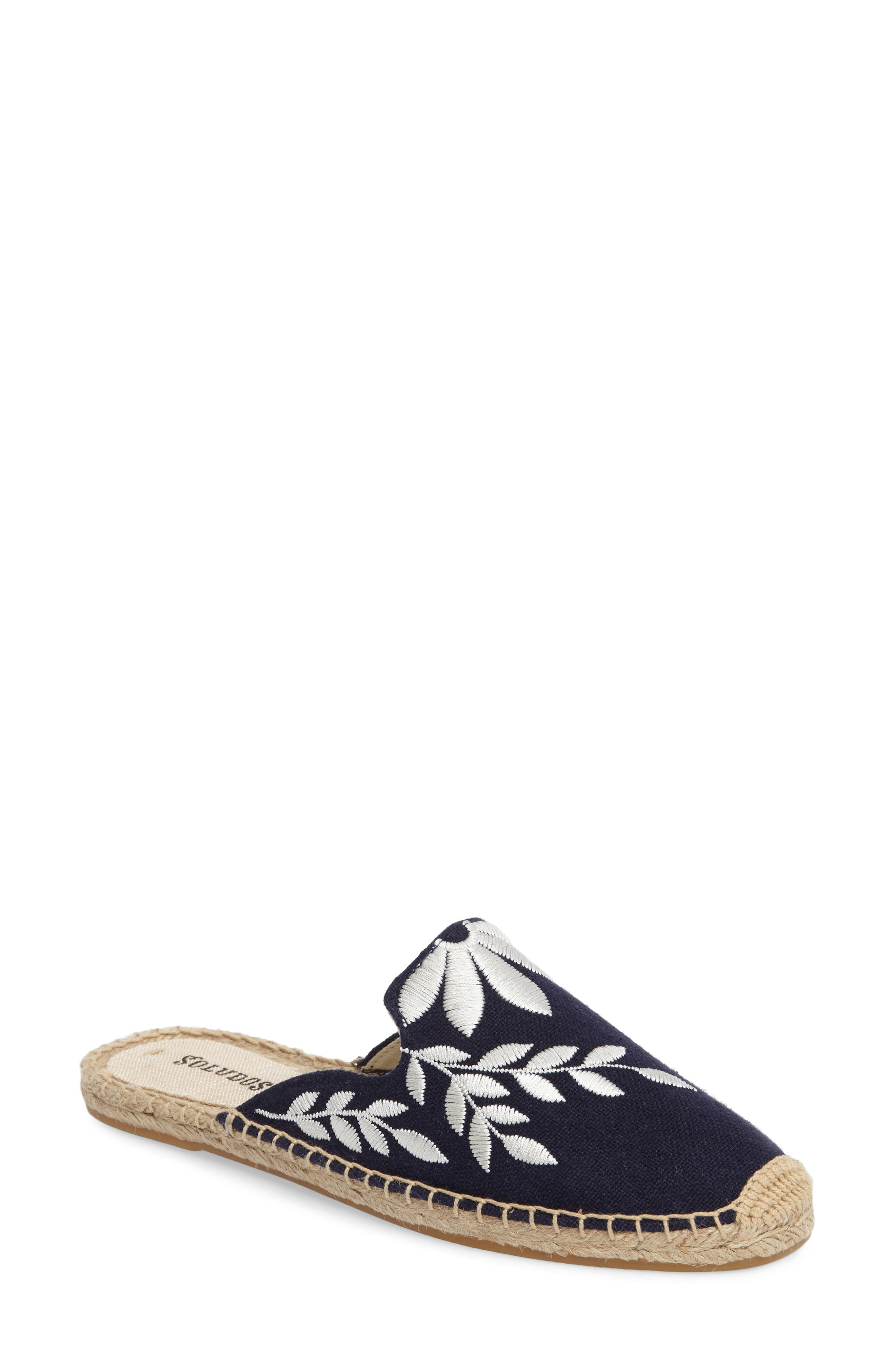 Embroidered Espadrille Mule,                             Main thumbnail 1, color,