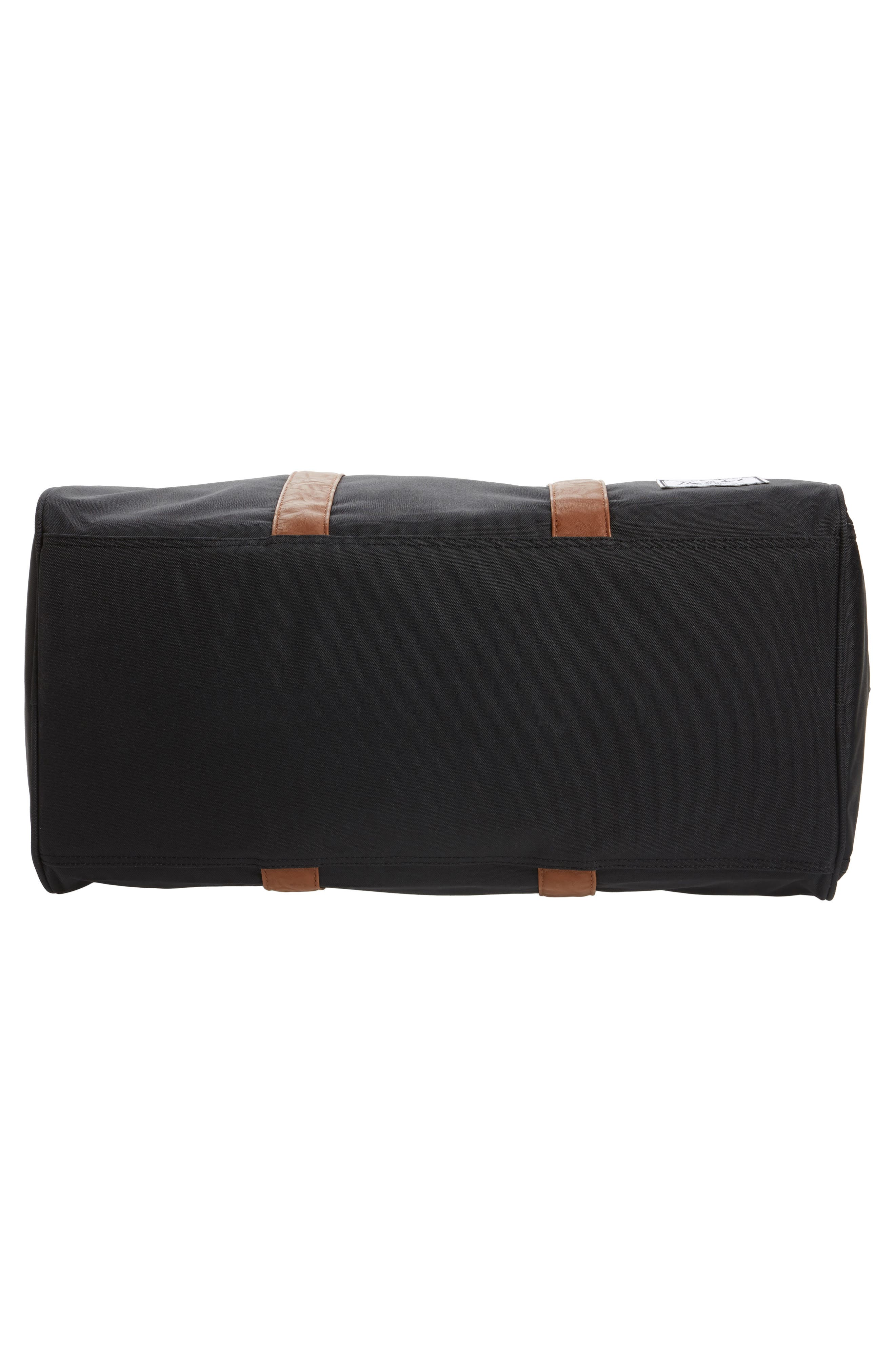 'Novel' Duffel Bag,                             Alternate thumbnail 5, color,                             BLACK/ TAN