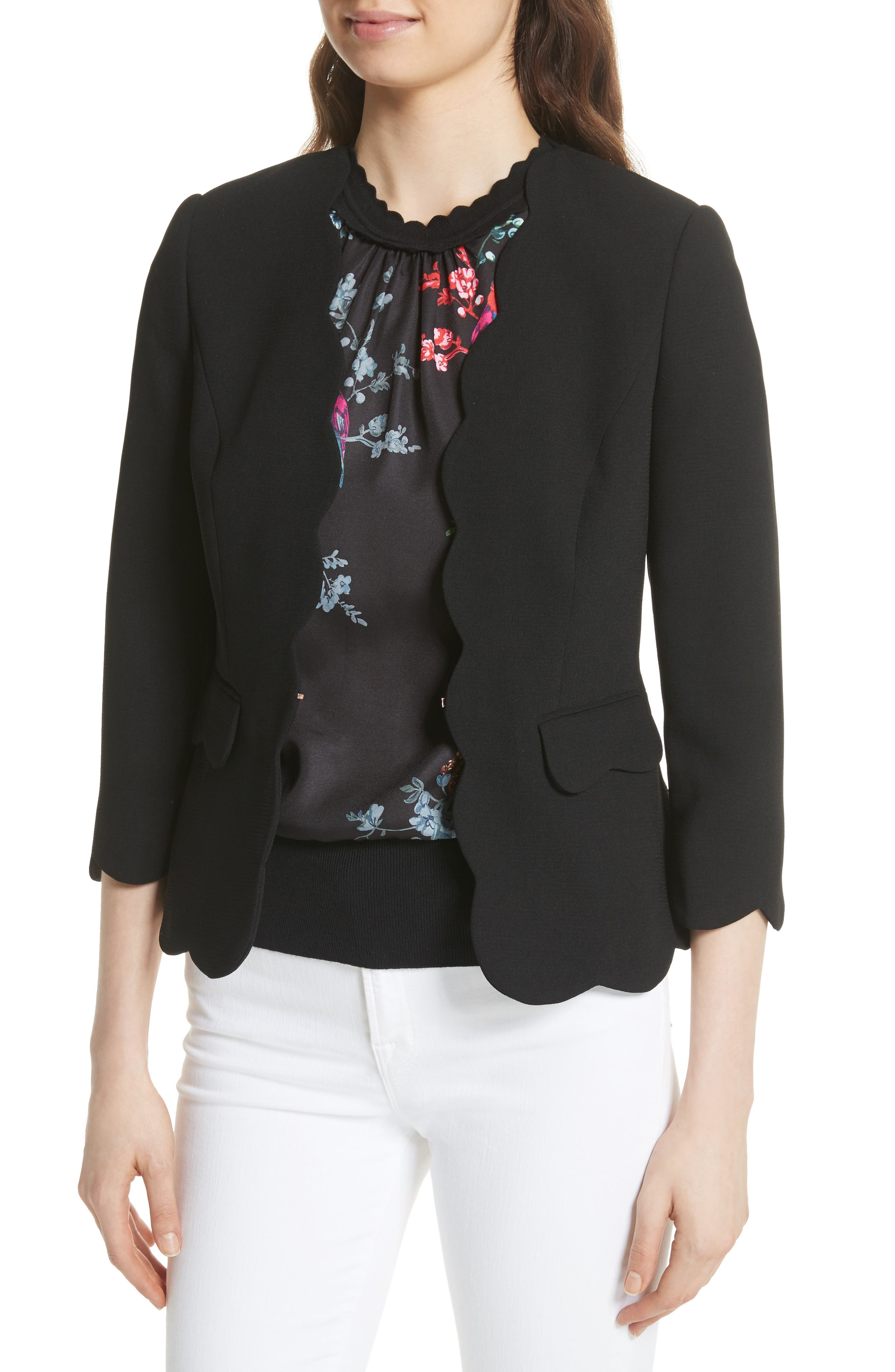 Scalloped Blazer,                             Alternate thumbnail 7, color,