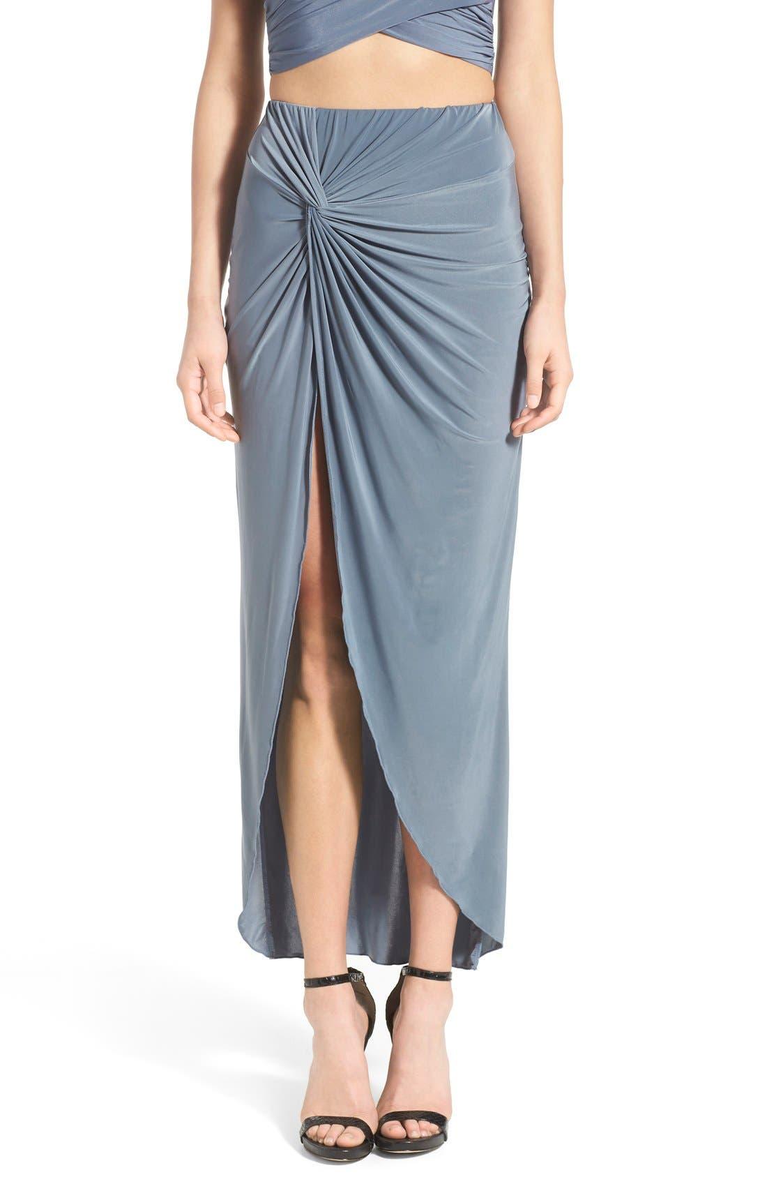 Knot Maxi Skirt, Main, color, 400