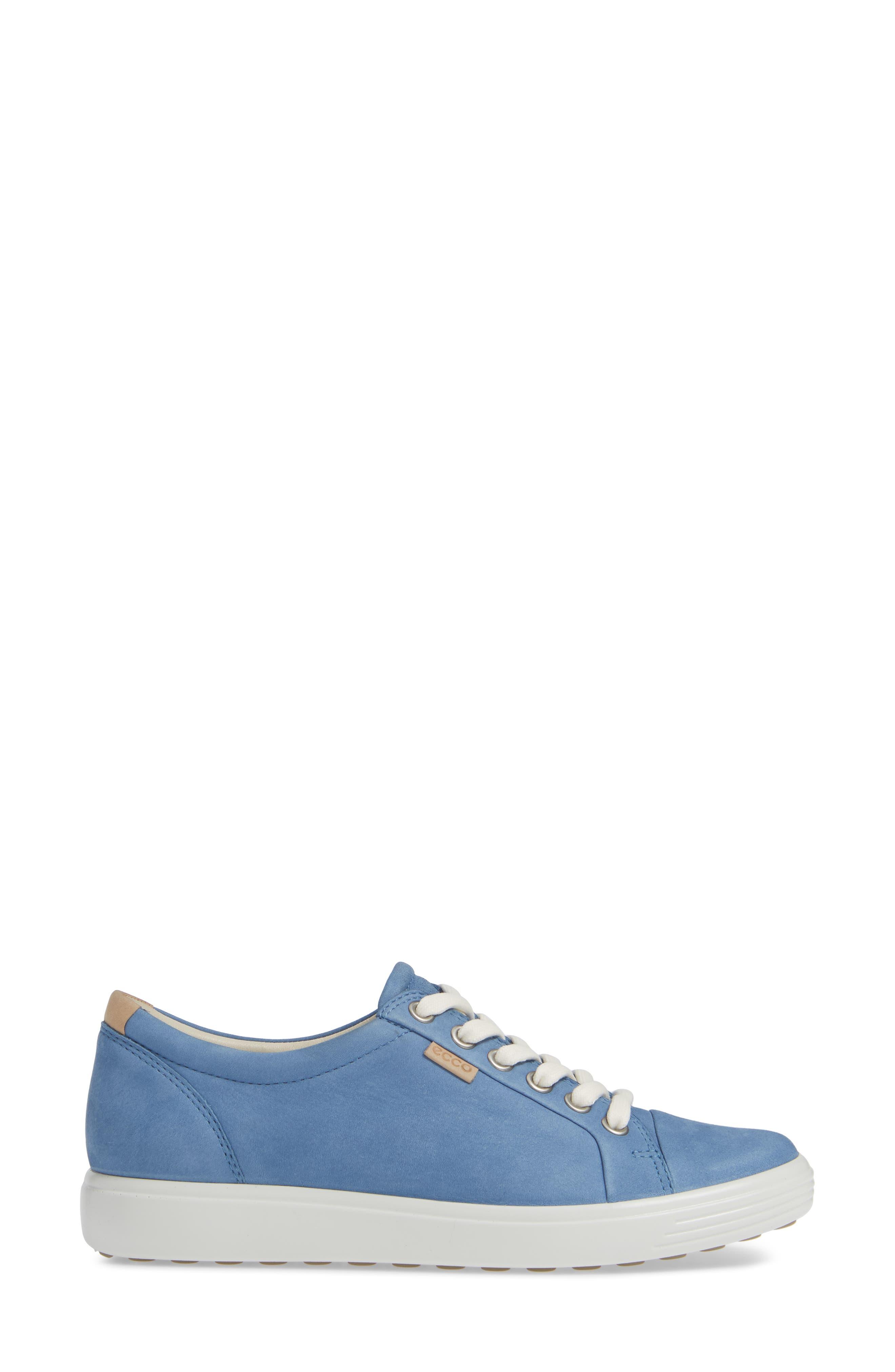 Soft 7 Sneaker,                             Alternate thumbnail 3, color,                             RETRO BLUE LEATHER