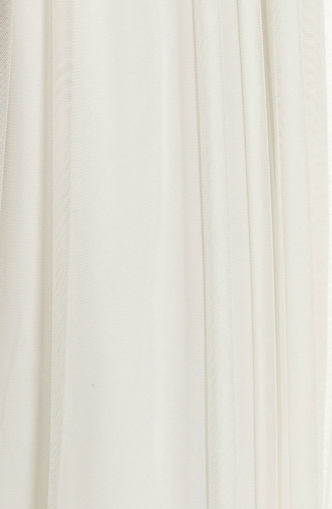 'Alyce' Illusion V-Neck Pleat Tulle Gown,                             Alternate thumbnail 16, color,
