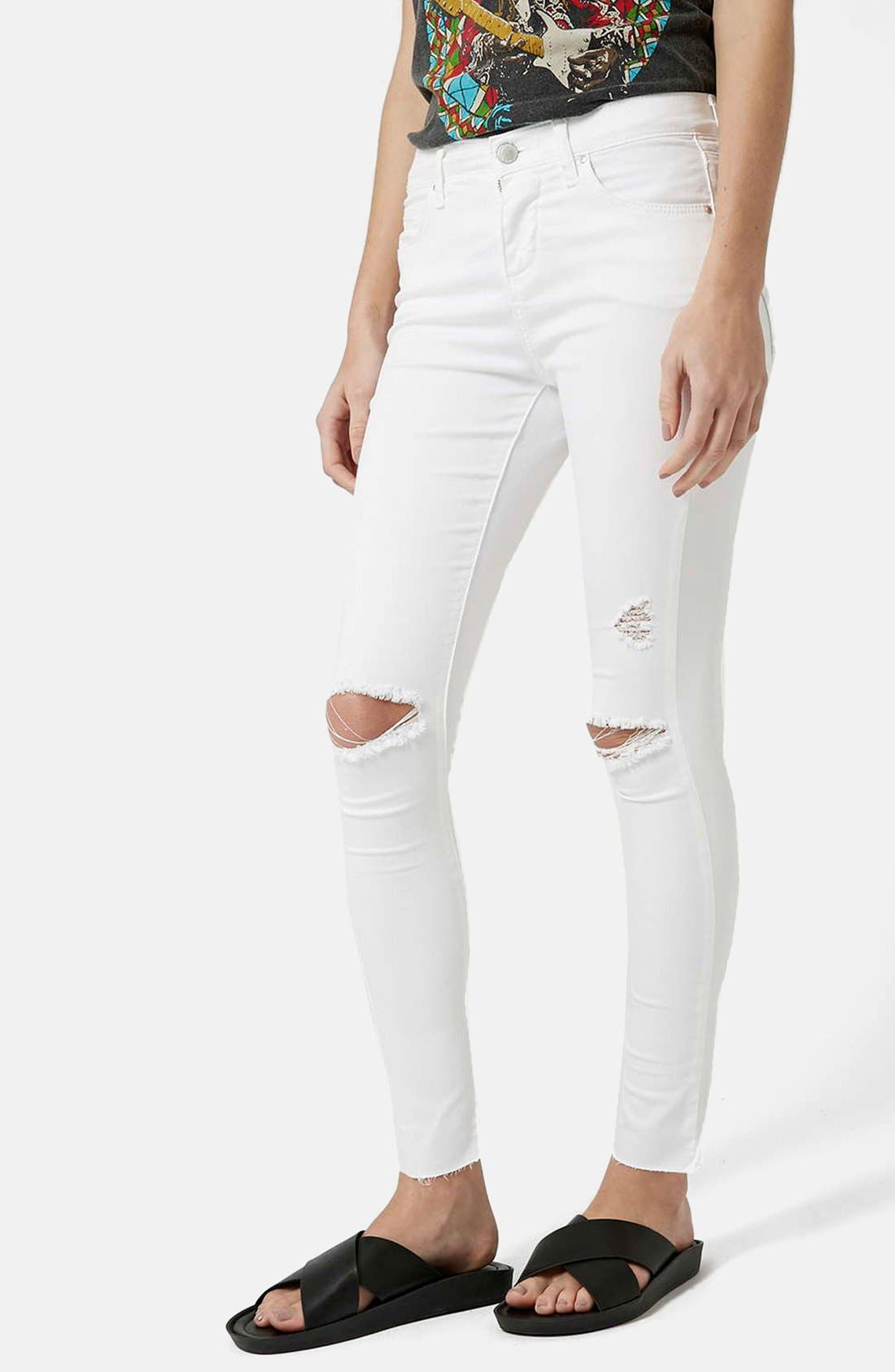 'Leigh' Moto Jeans,                         Main,                         color,