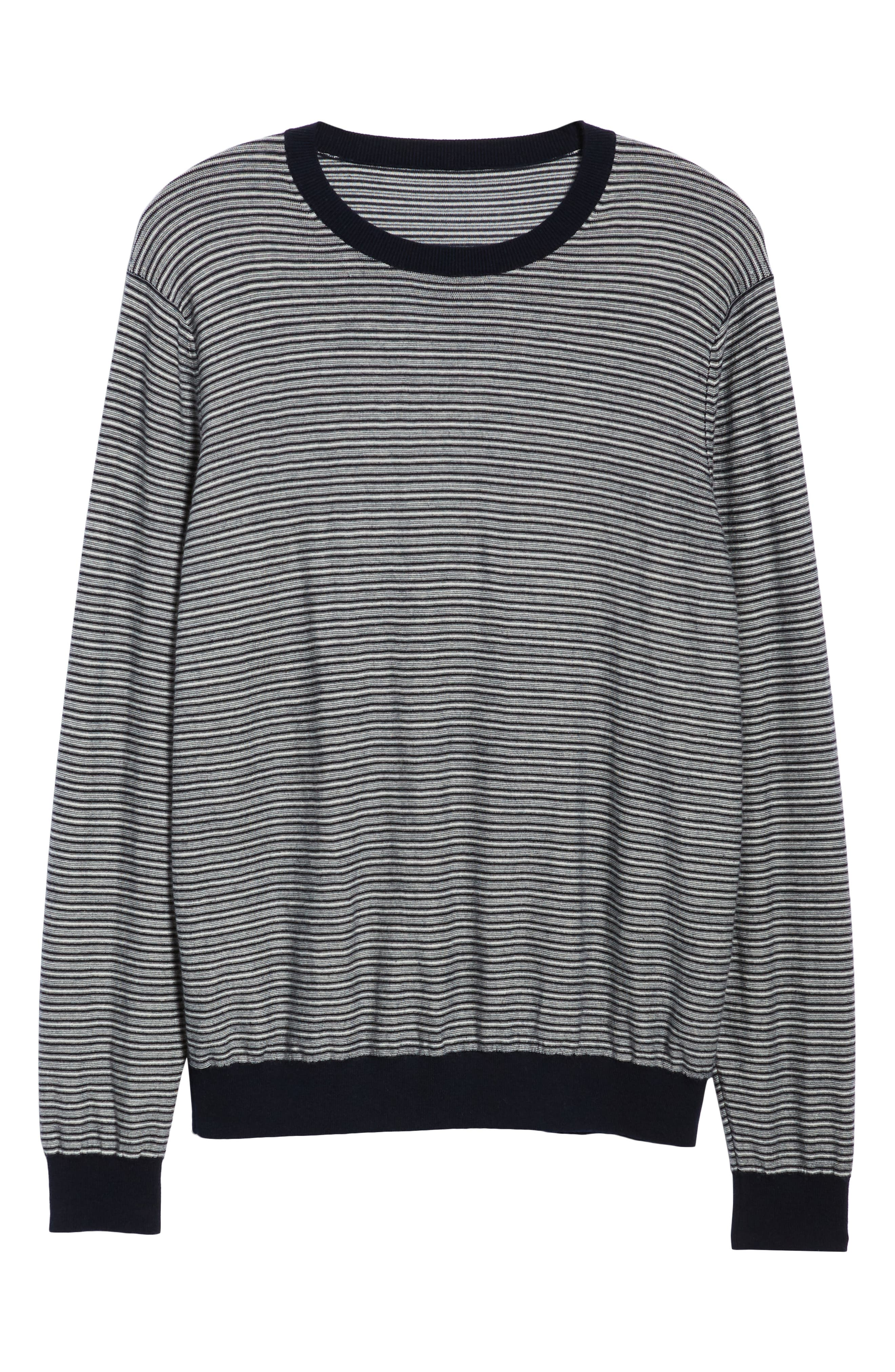 Striped Wool & Cashmere Sweater,                             Alternate thumbnail 6, color,                             400