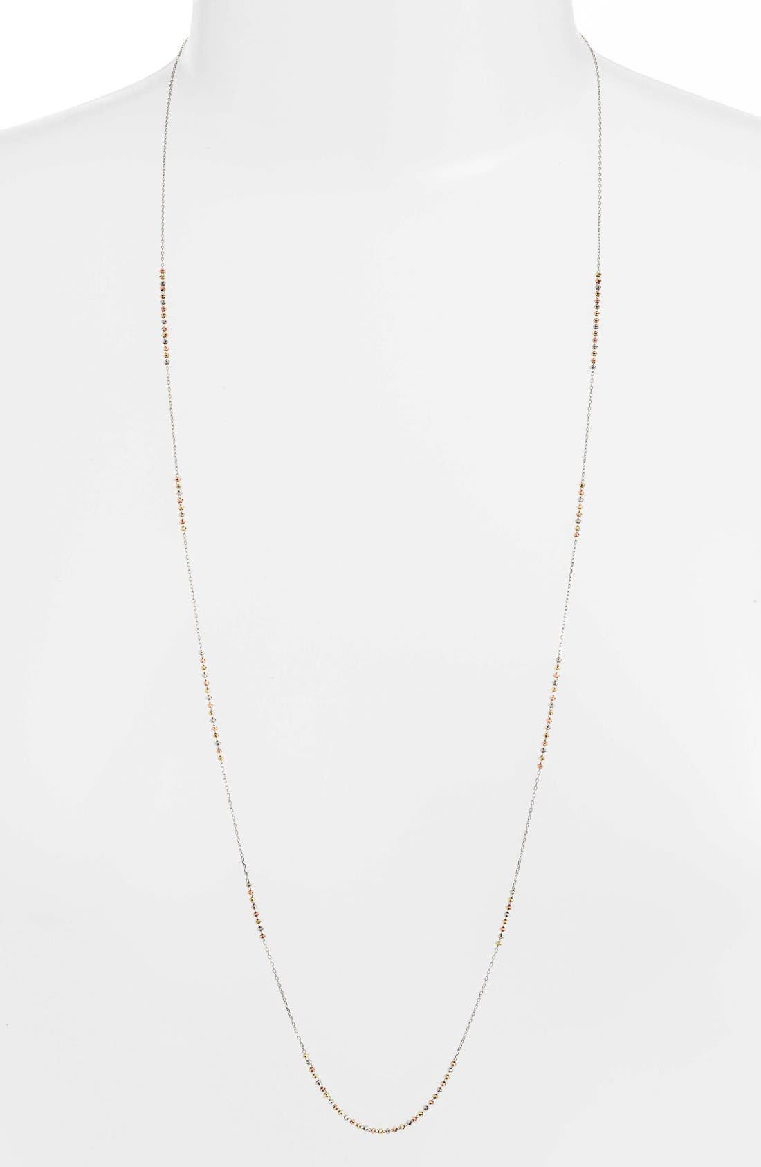 'Shimmer' Strand Necklace,                         Main,                         color, TRI GOLD