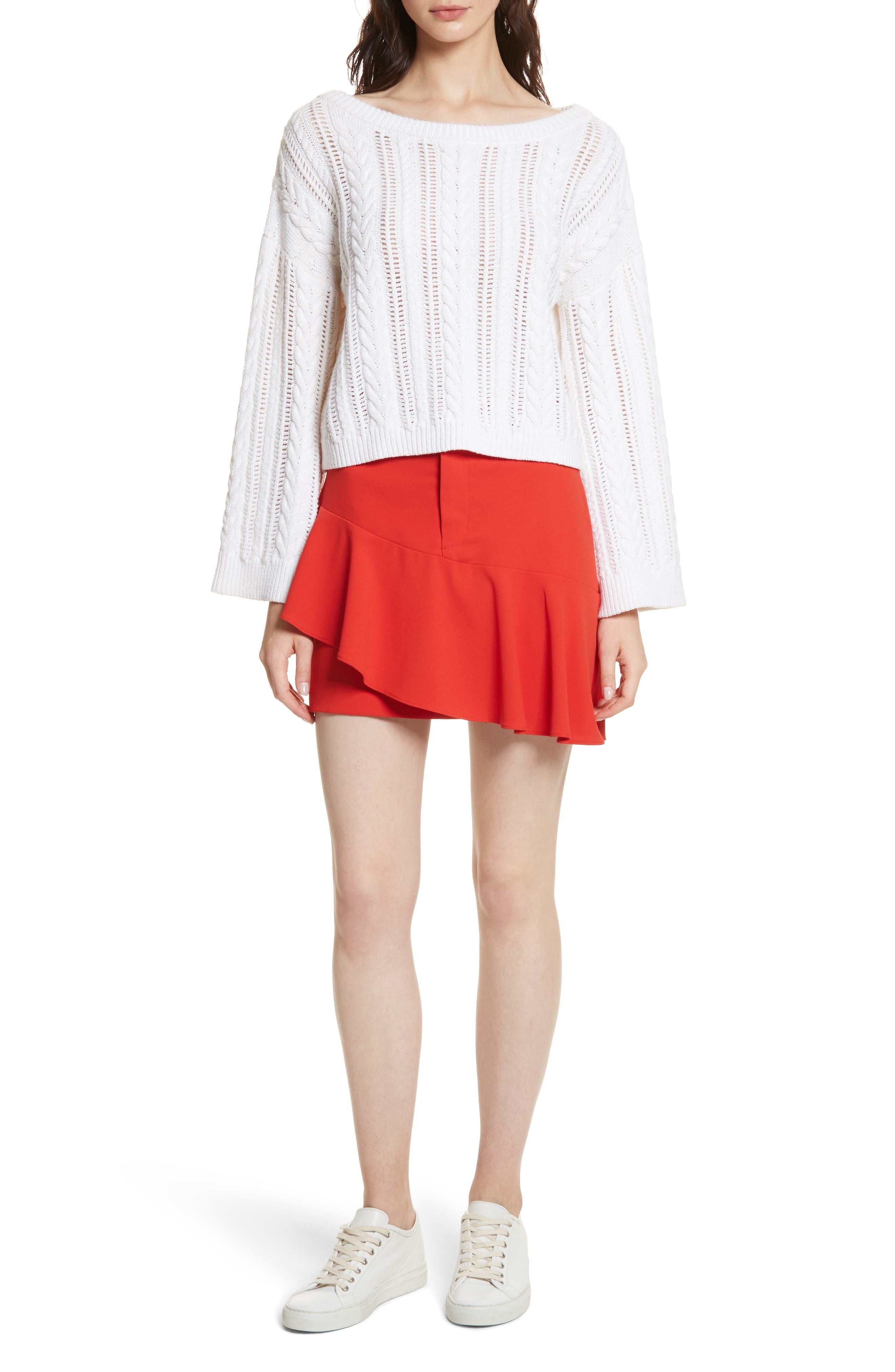 Nisa Ruffle Miniskirt,                             Alternate thumbnail 7, color,                             612