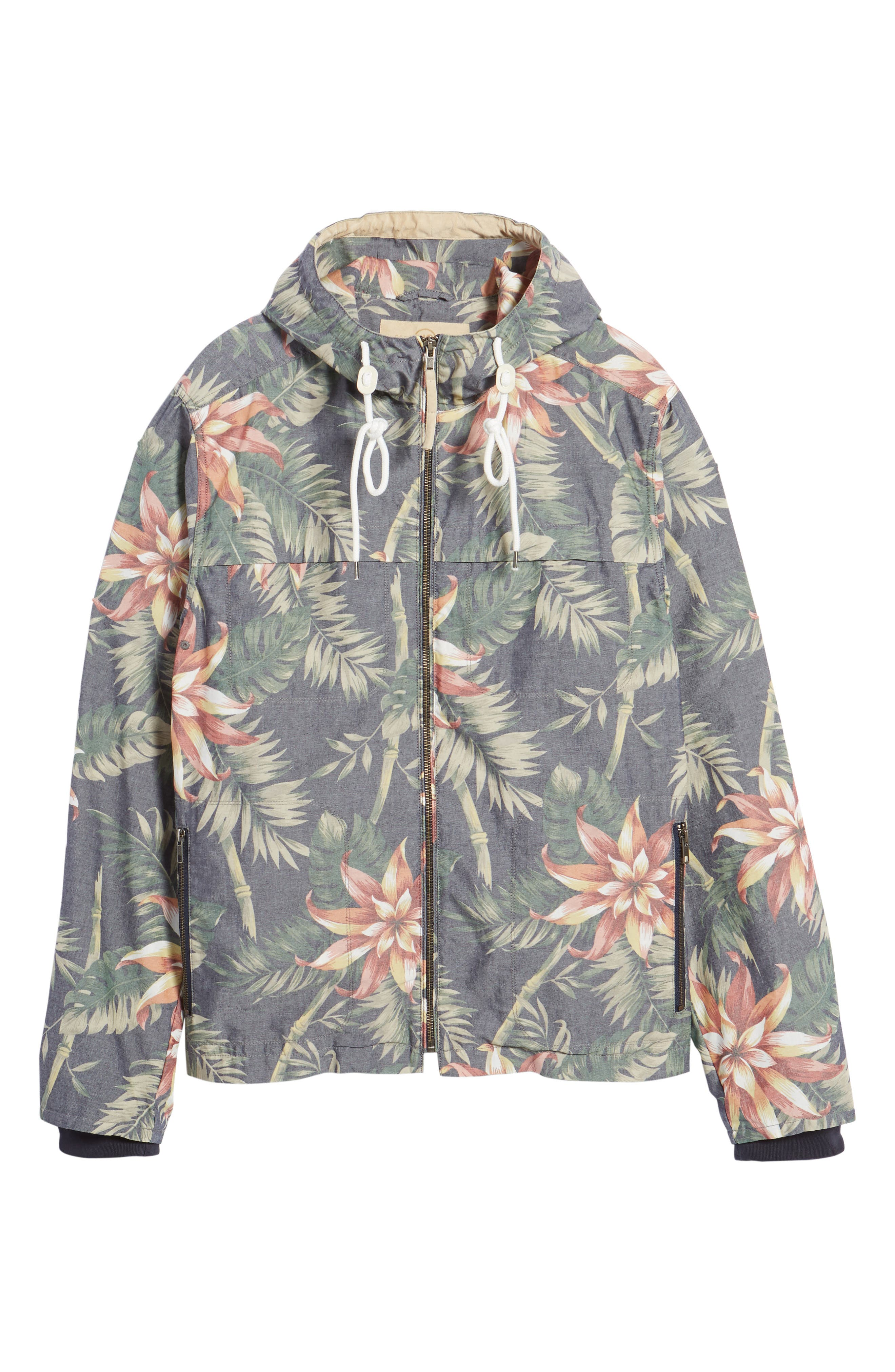 Print Hooded Beach Jacket,                             Alternate thumbnail 5, color,                             401
