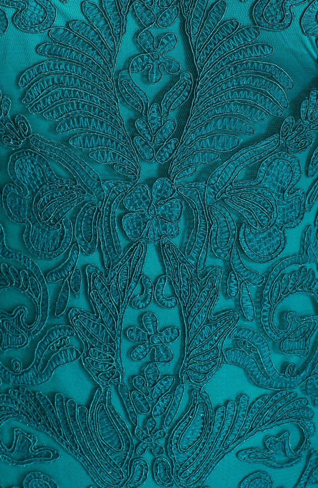 Illusion Yoke Lace Sheath Dress,                             Alternate thumbnail 110, color,