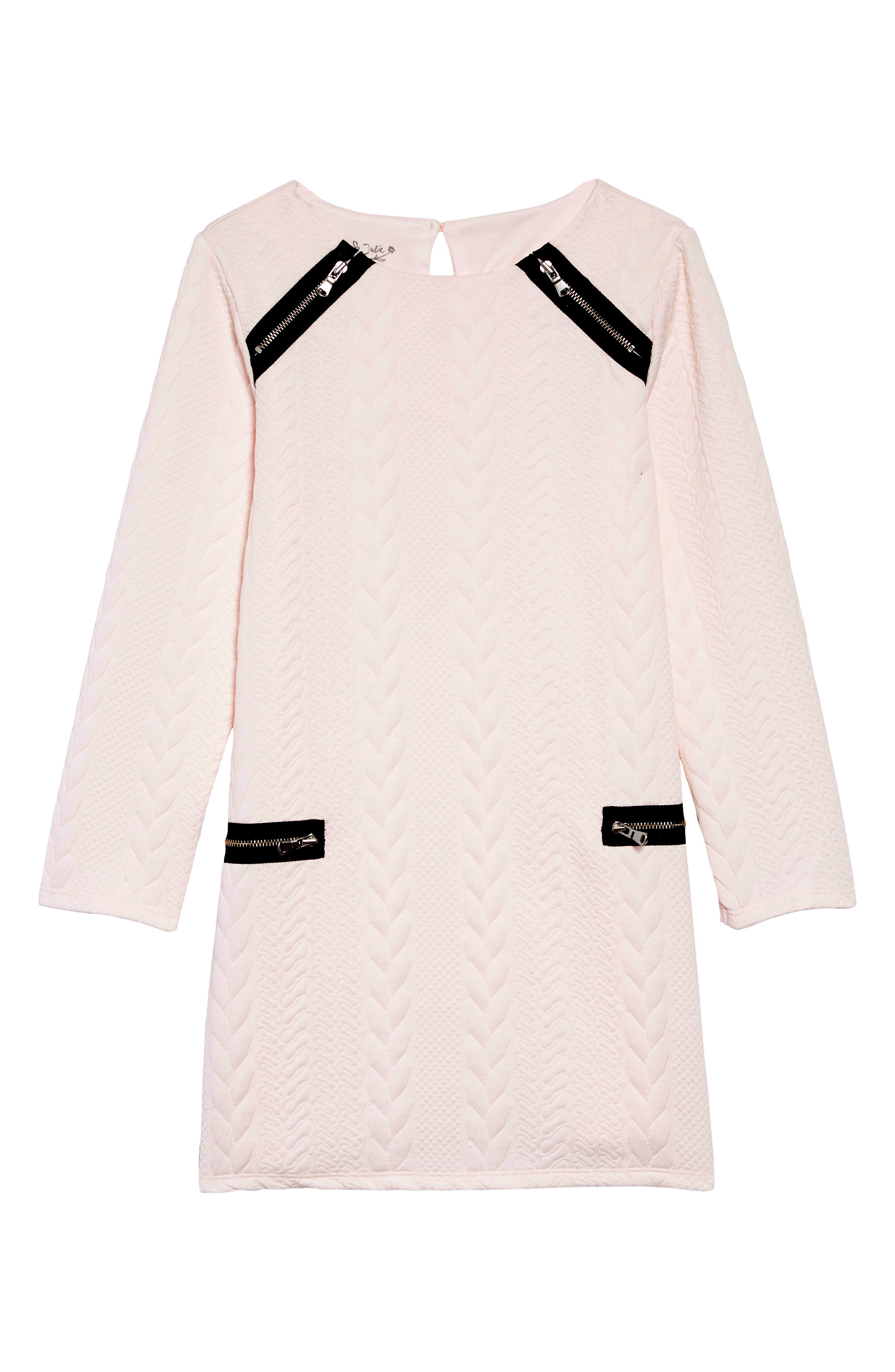 Girls Pippa  Julie Cable Double Knit Zip Dress