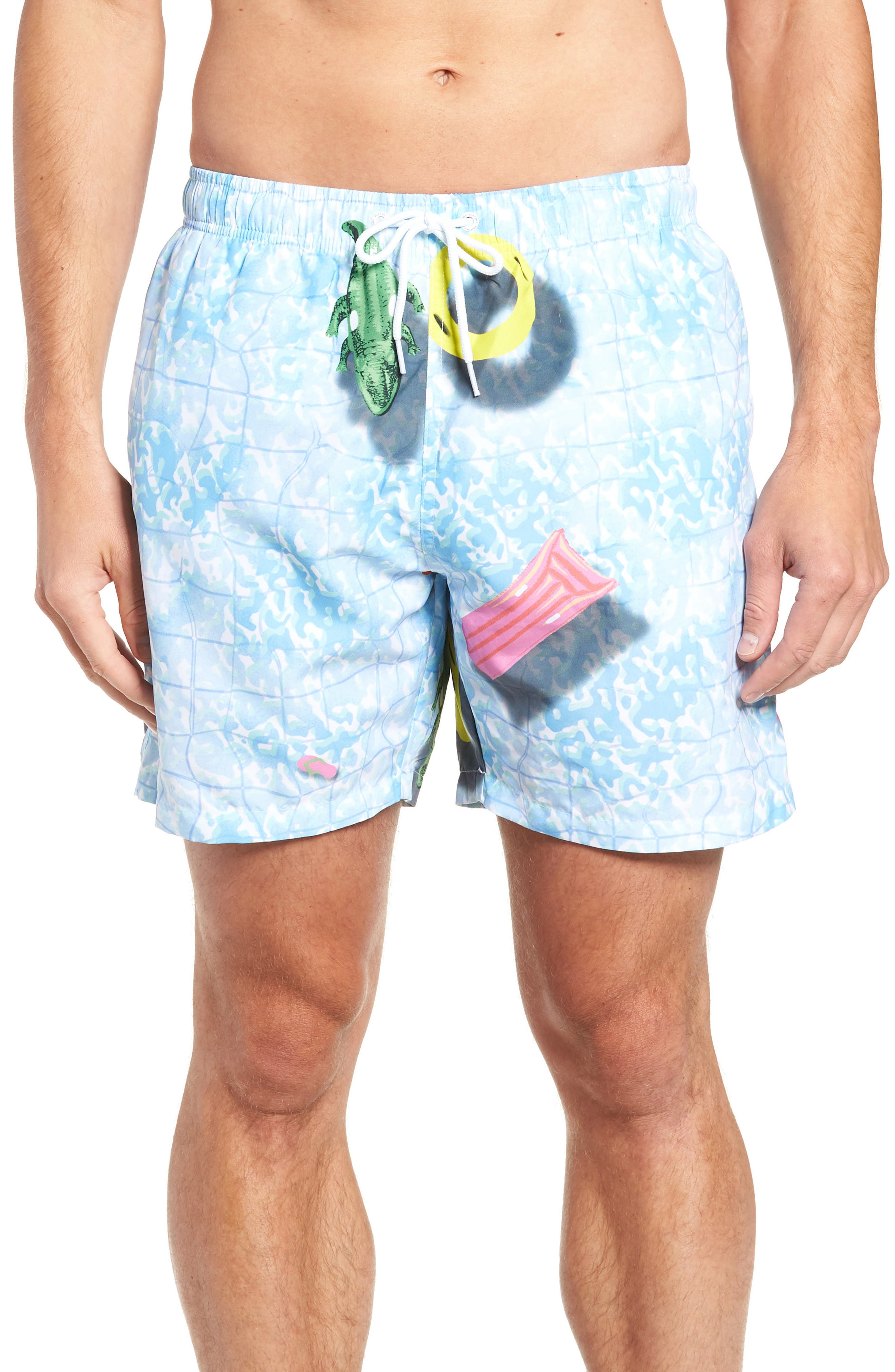 Pool Croc Swim Trunks,                         Main,                         color, MULTI