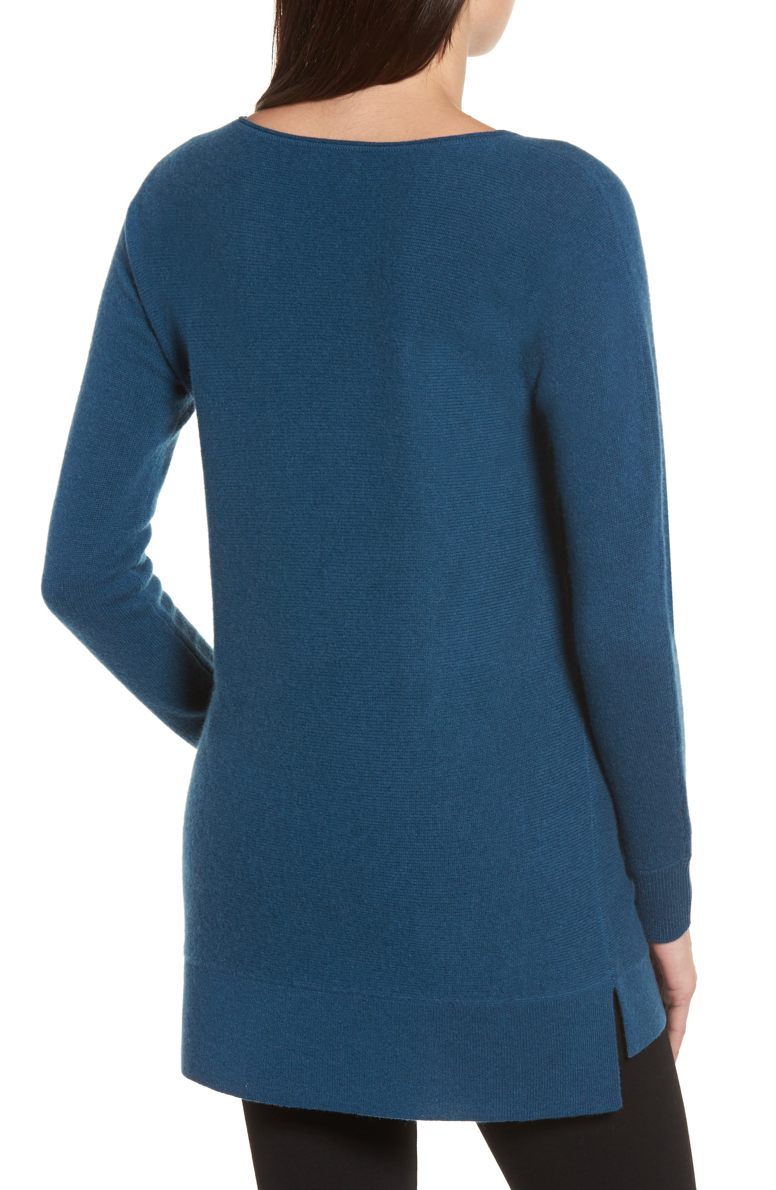 High/Low Wool & Cashmere Tunic Sweater,                             Alternate thumbnail 24, color,