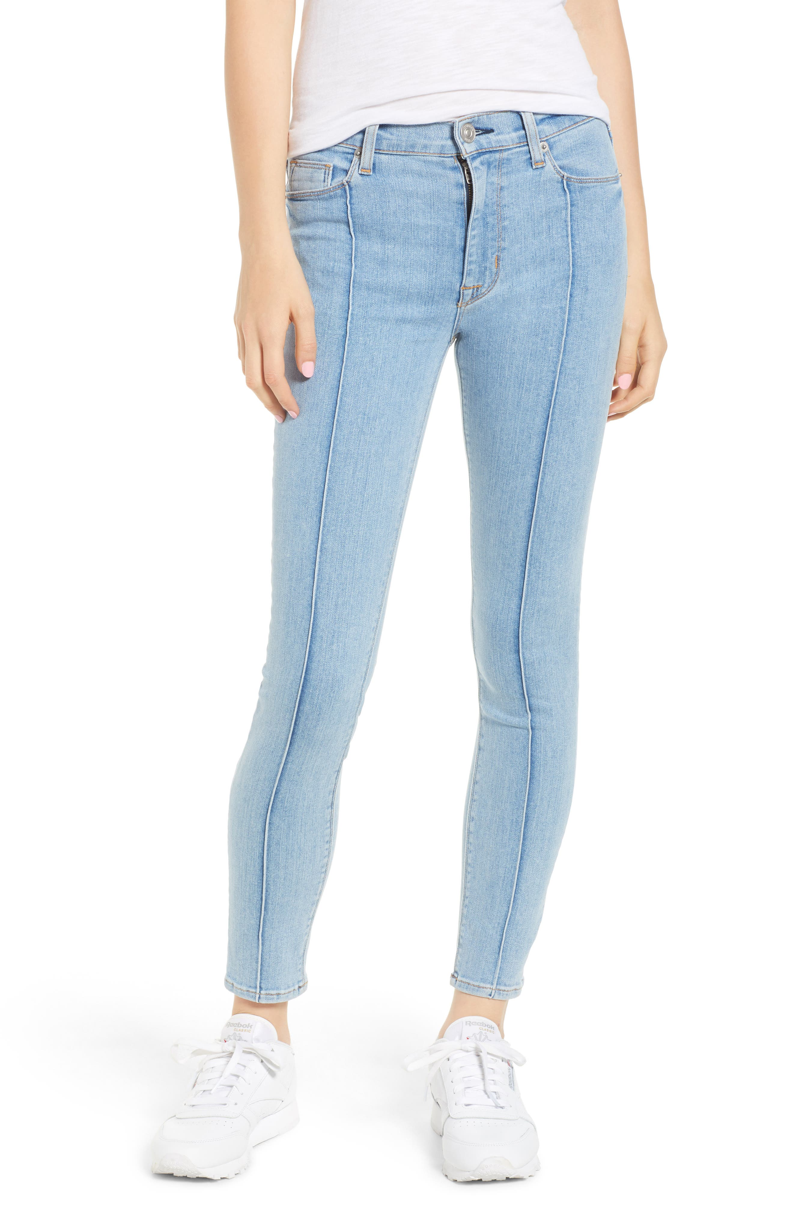 Barbara High Waist Super Skinny Jeans,                         Main,                         color, 450