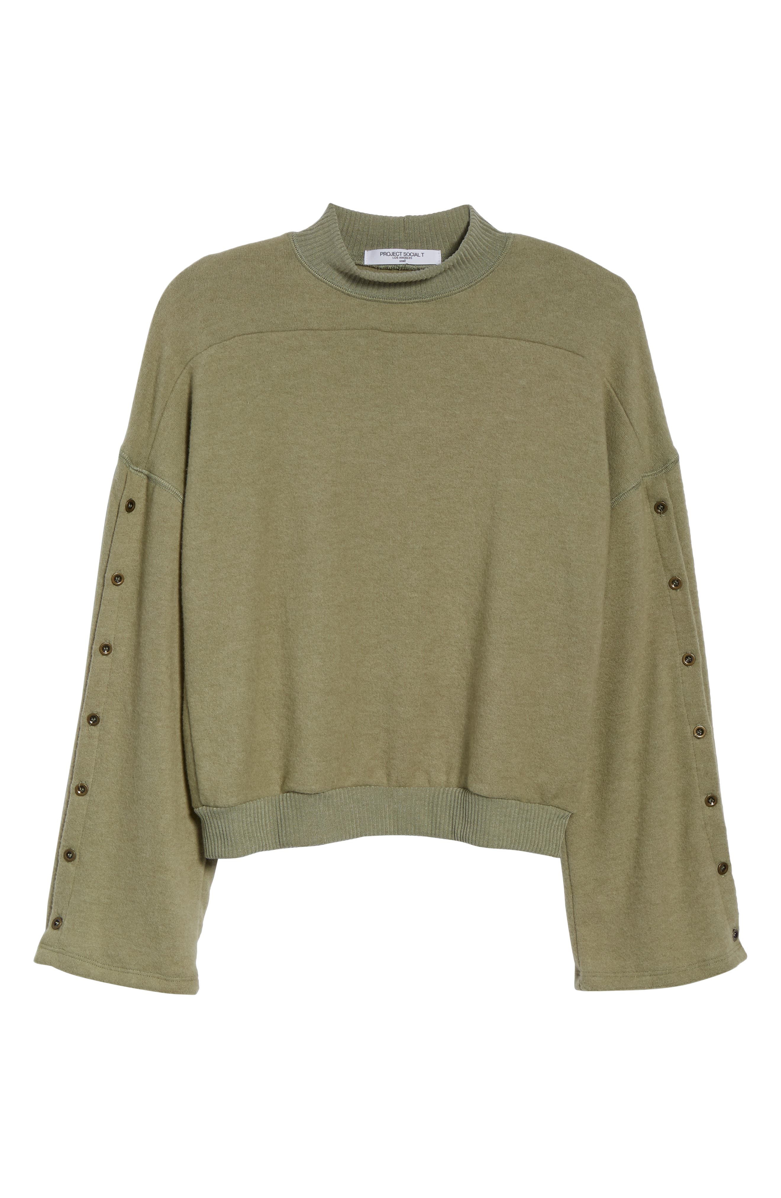 Starstruck Mock Neck Pullover,                             Alternate thumbnail 6, color,                             CAPERS