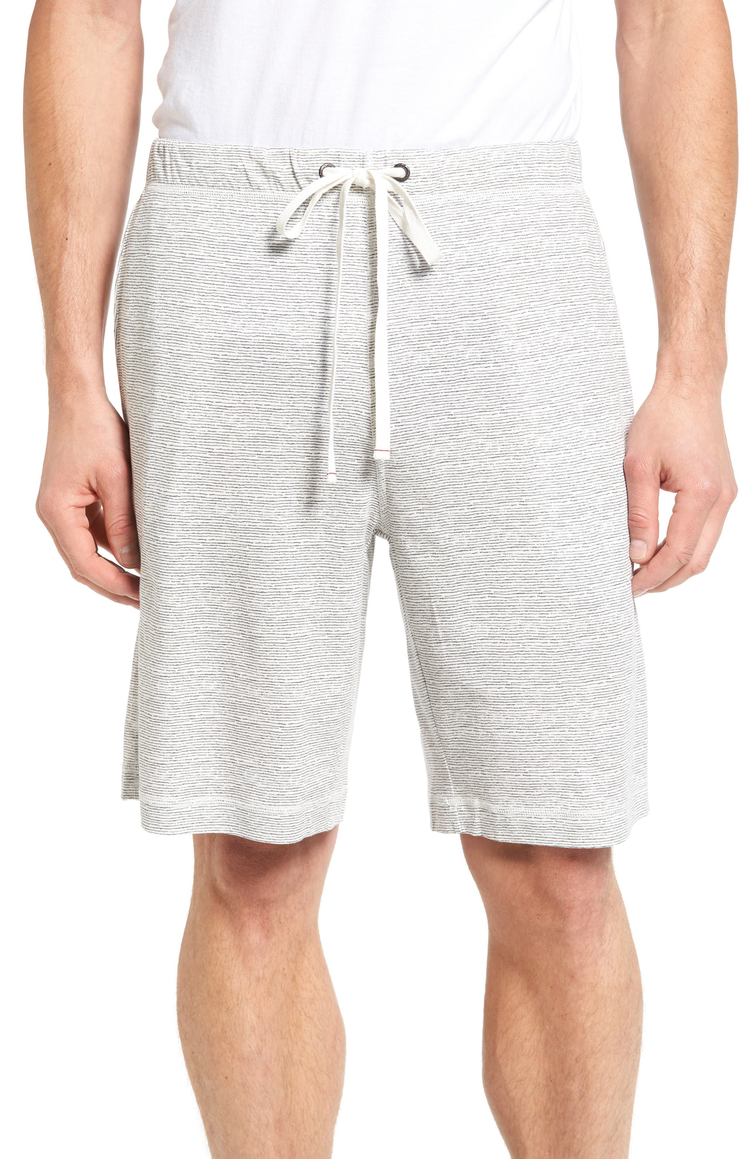 Feeder Stripe Pima Cotton & Modal Lounge Shorts,                             Main thumbnail 1, color,                             020