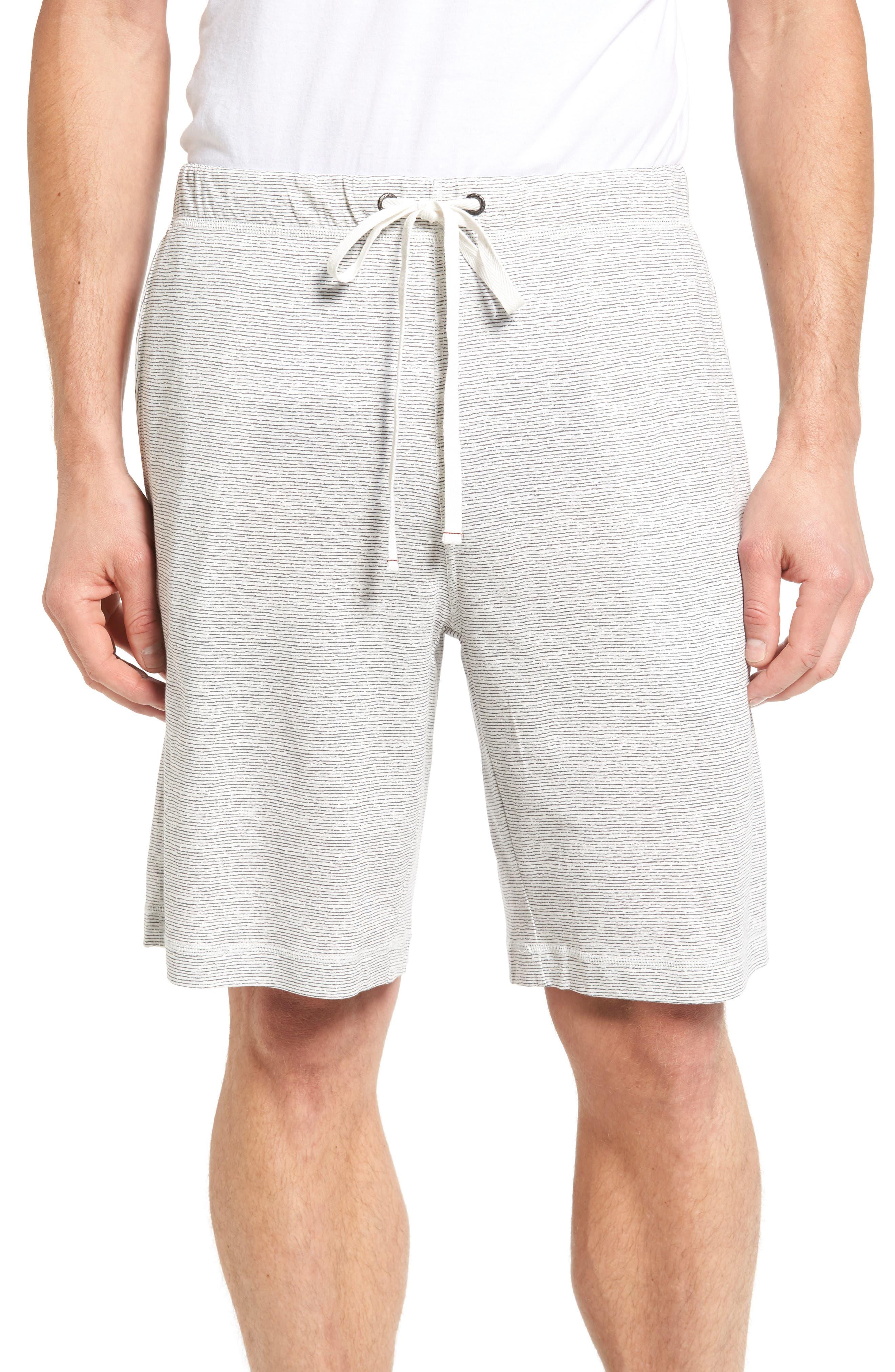 Feeder Stripe Pima Cotton & Modal Lounge Shorts,                         Main,                         color, 020