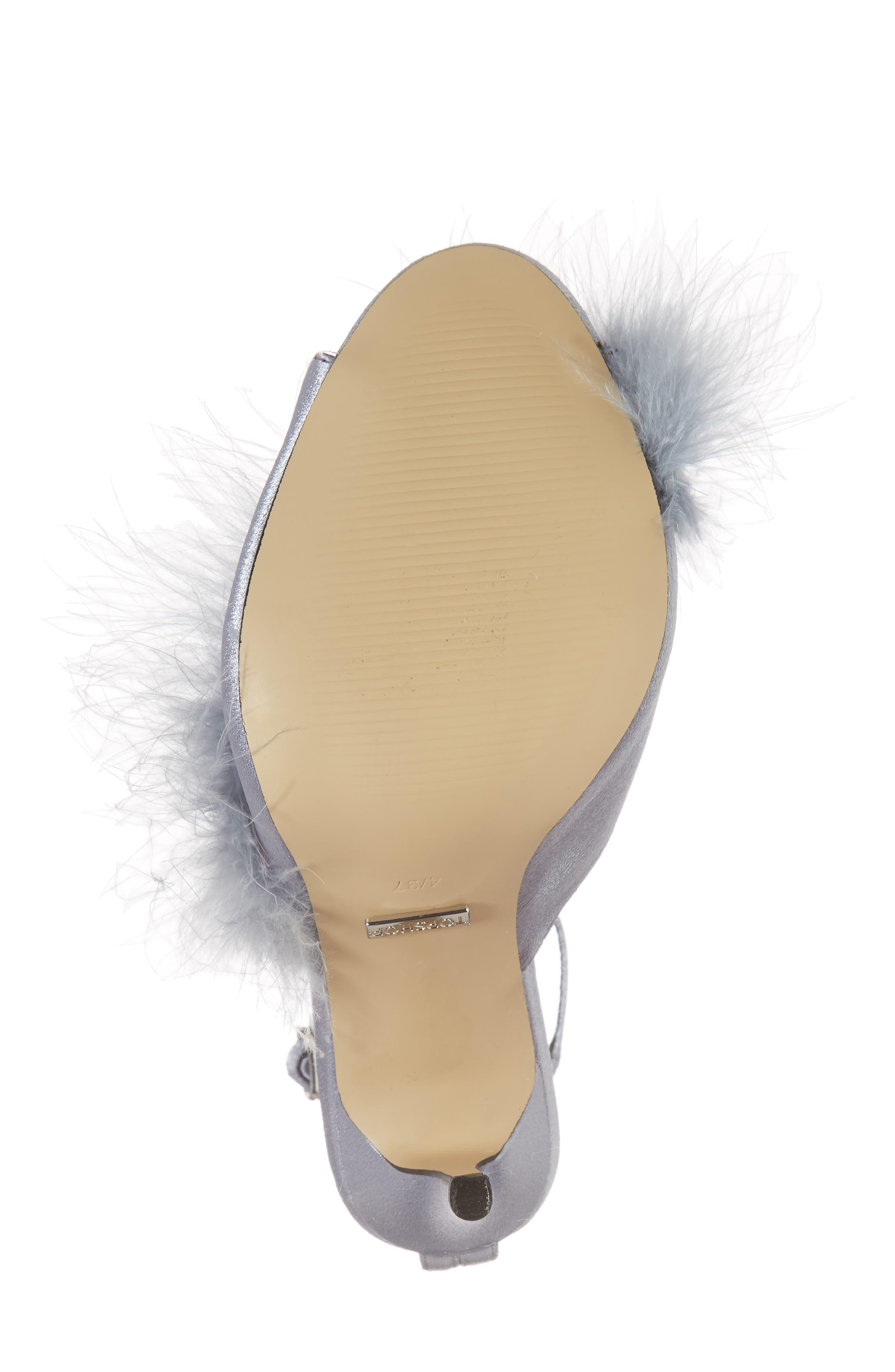 Roar Feather Sandal,                             Alternate thumbnail 6, color,                             GREY