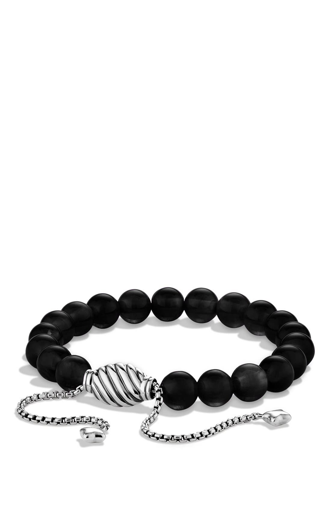 'Spiritual Beads' Bracelet,                             Main thumbnail 1, color,                             BLACK ONYX