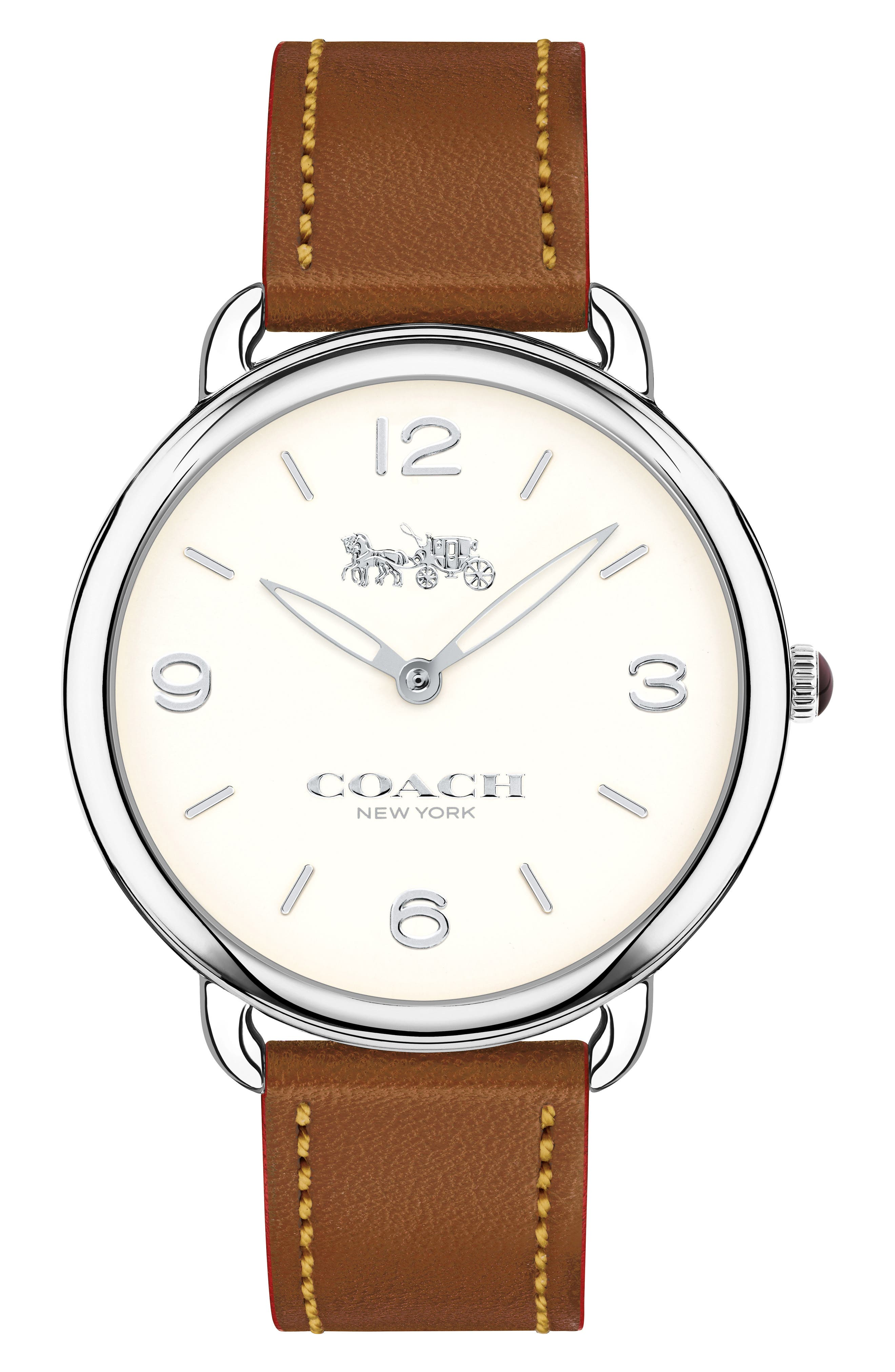 Delancey Slim Leather Strap Watch, 36mm,                             Main thumbnail 3, color,