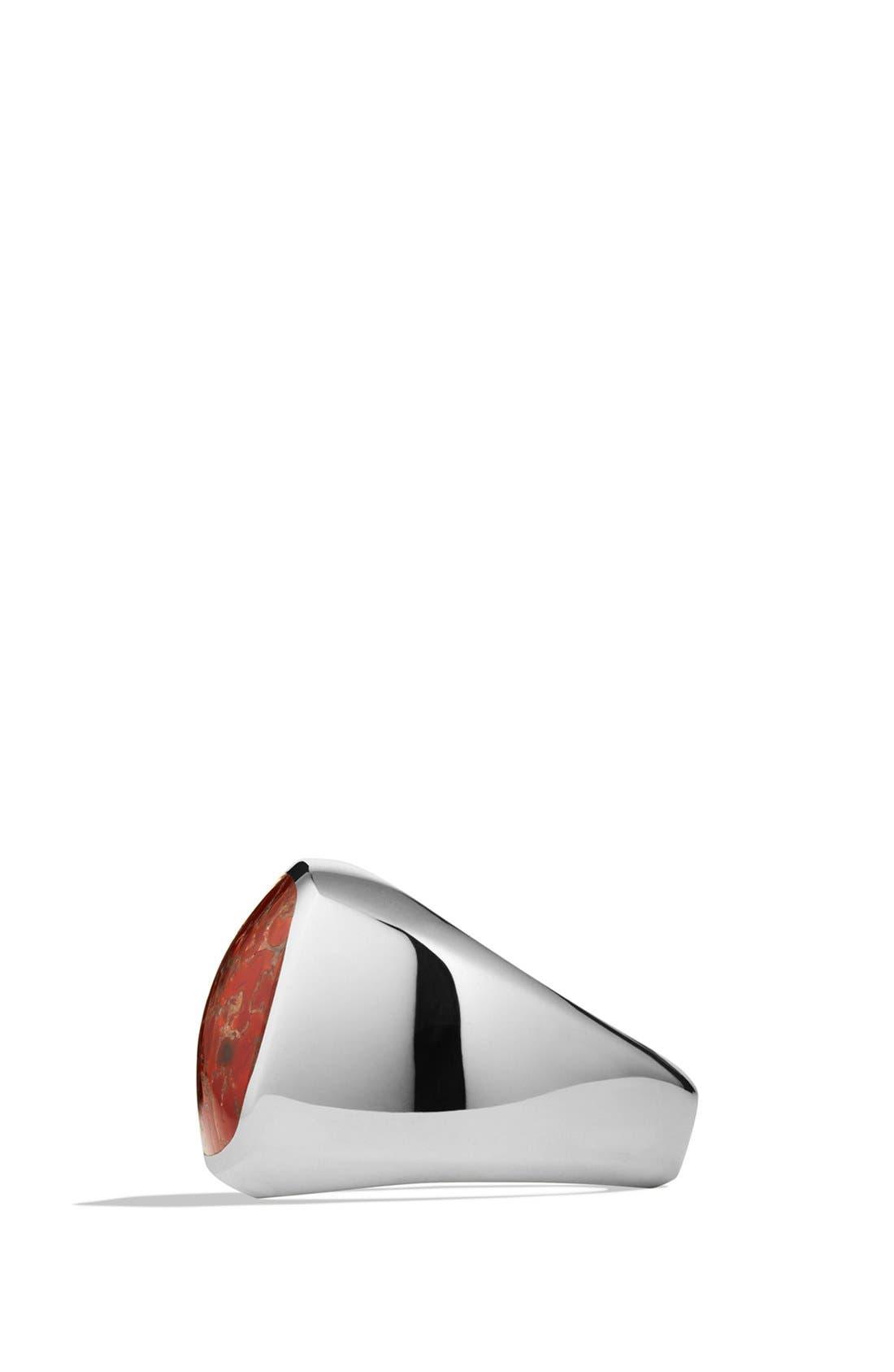 'Chevron' Signet Ring,                             Alternate thumbnail 18, color,