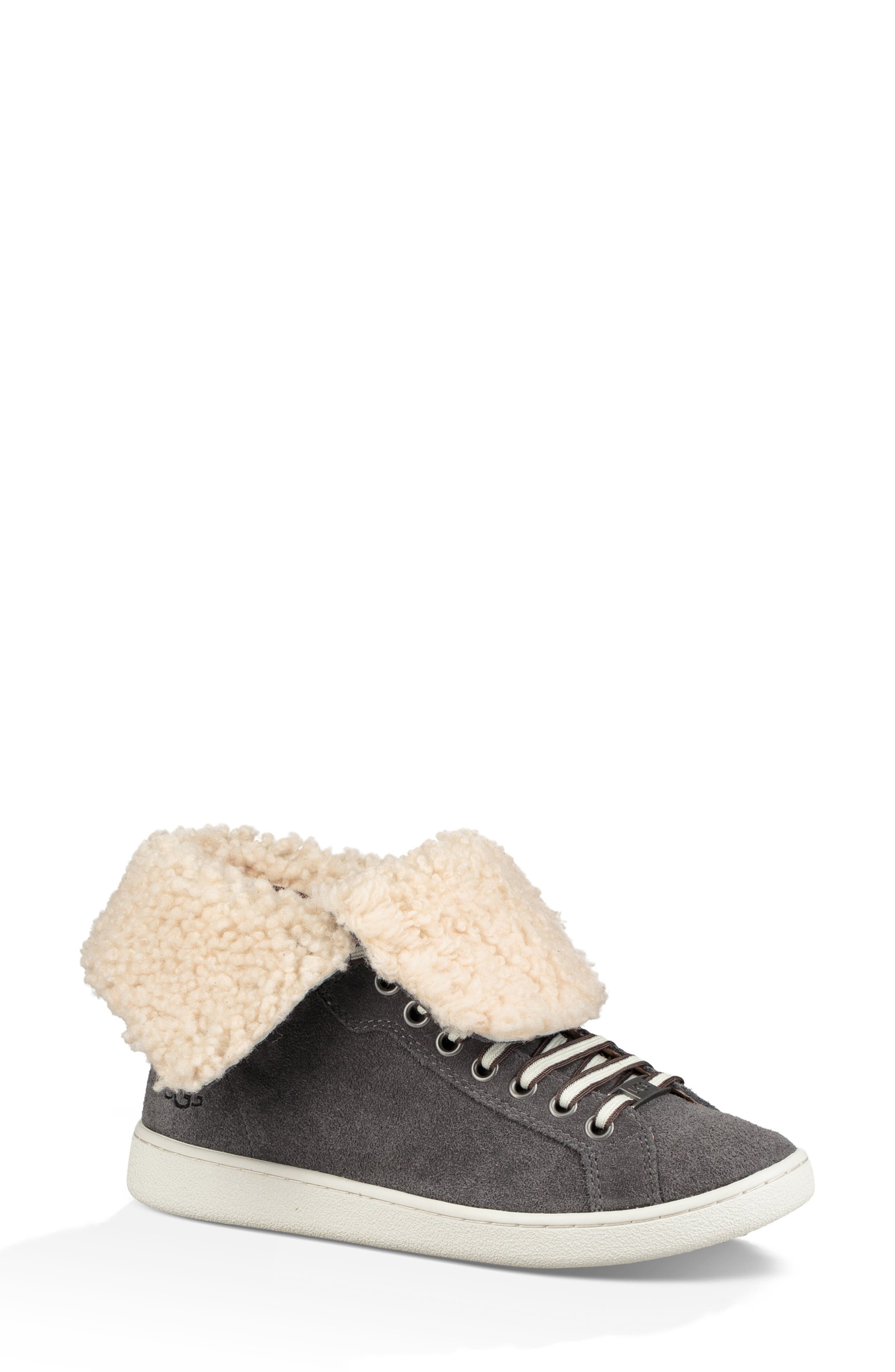 Starlyn Genuine Shearling Lined Boot, Main, color, CHARCOAL