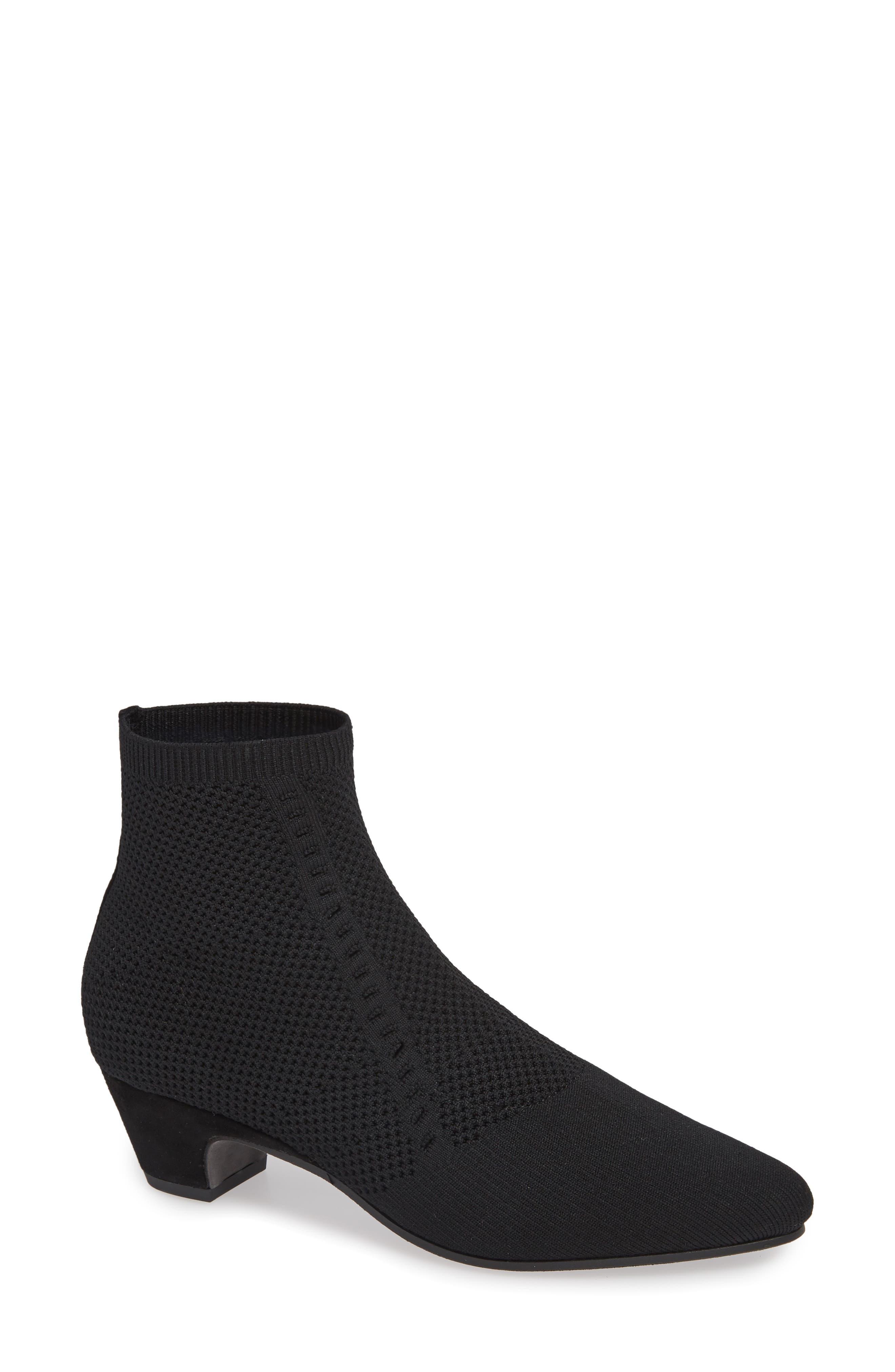 Eileen Fisher Purl Sock Bootie, Black