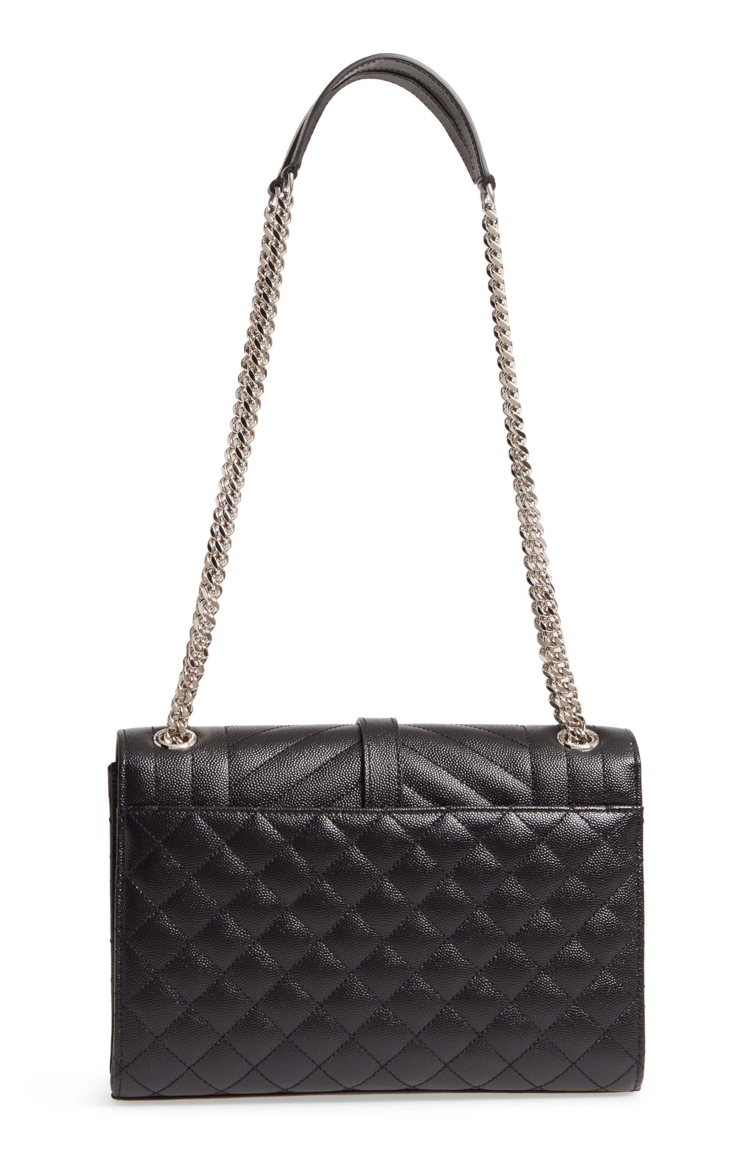 Medium Cassandra Calfskin Shoulder Bag,                             Alternate thumbnail 3, color,                             001