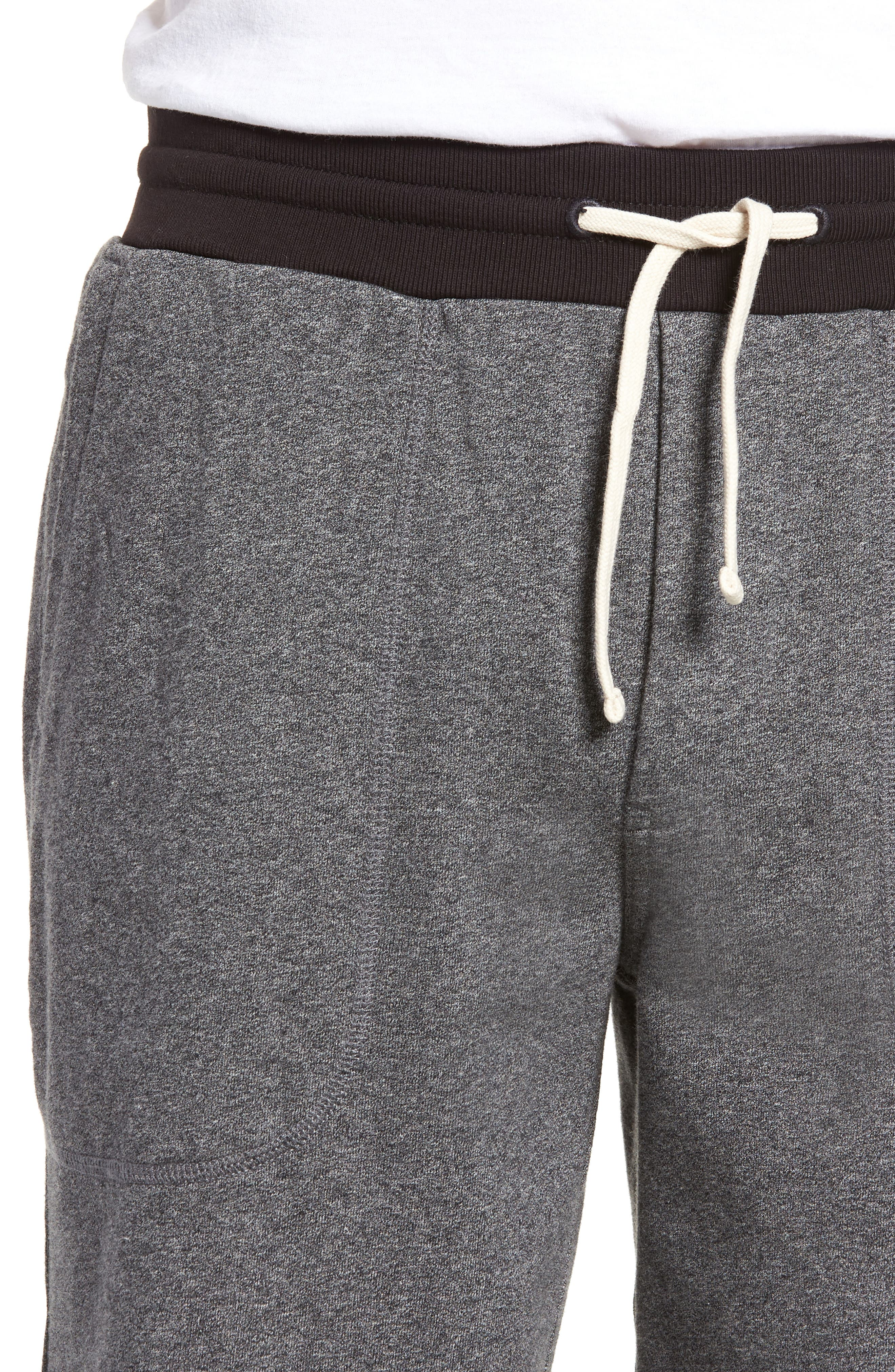 French Terry Shorts,                             Alternate thumbnail 4, color,                             HEATHER ANCHOR
