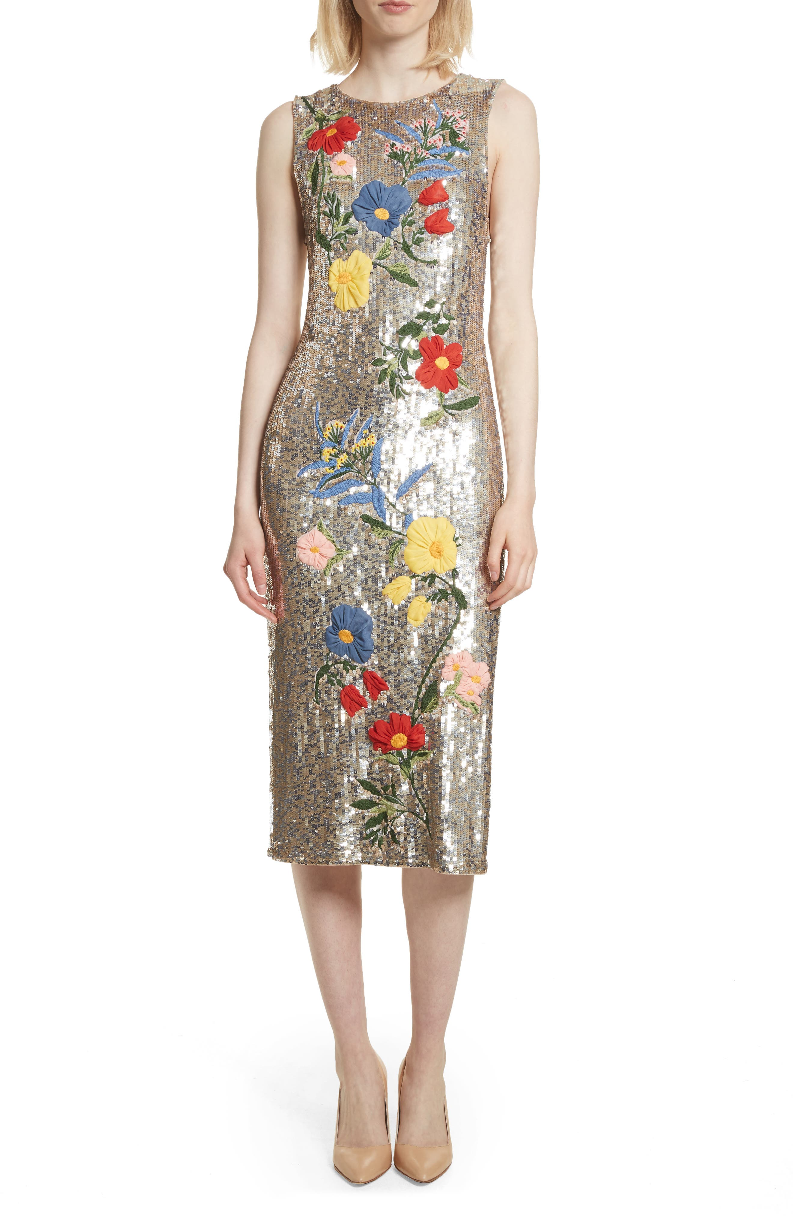 Nat Embellished Sheath Dress,                             Main thumbnail 1, color,                             047