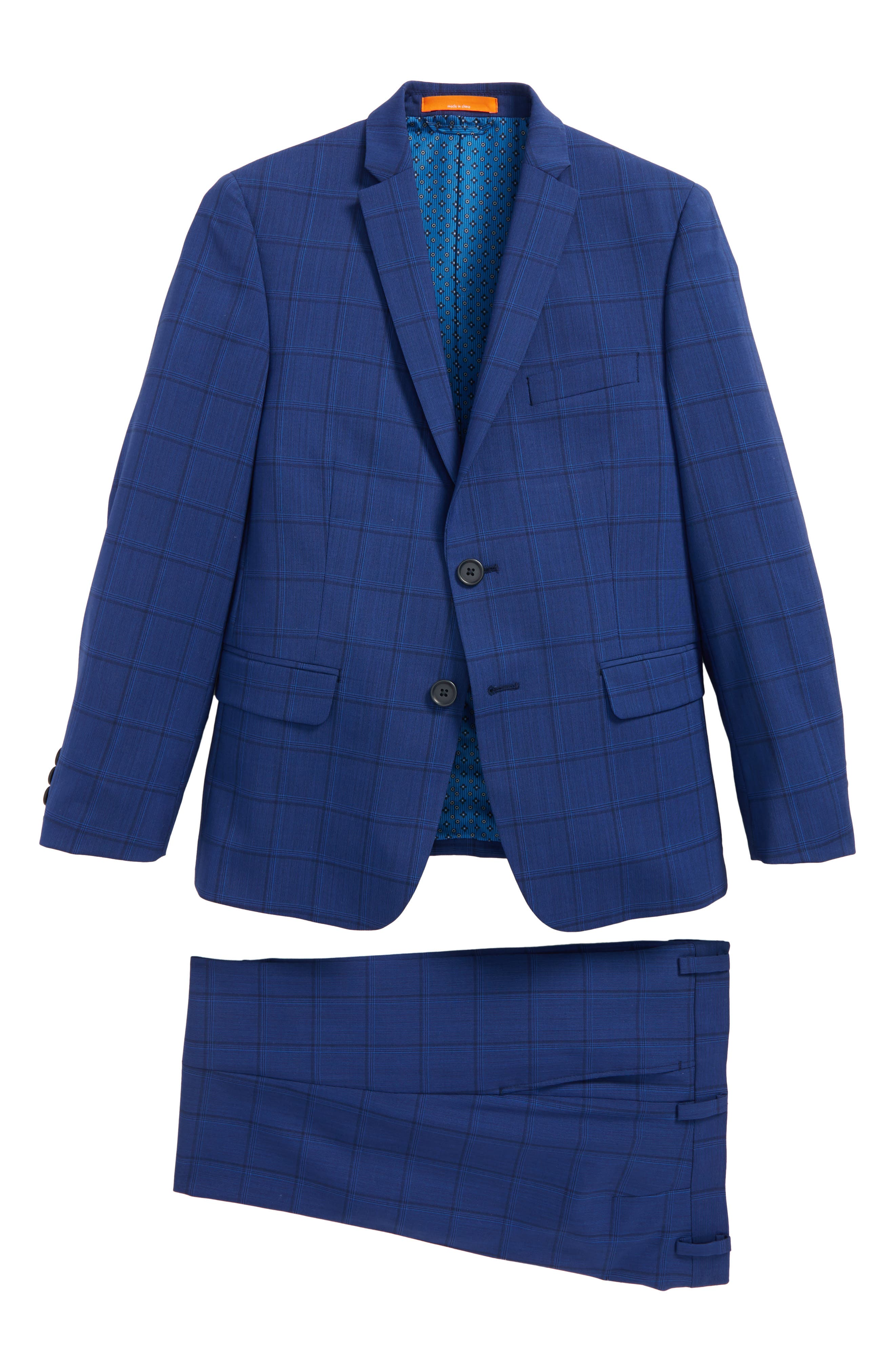 Windowpane Wool Suit,                             Main thumbnail 1, color,                             400