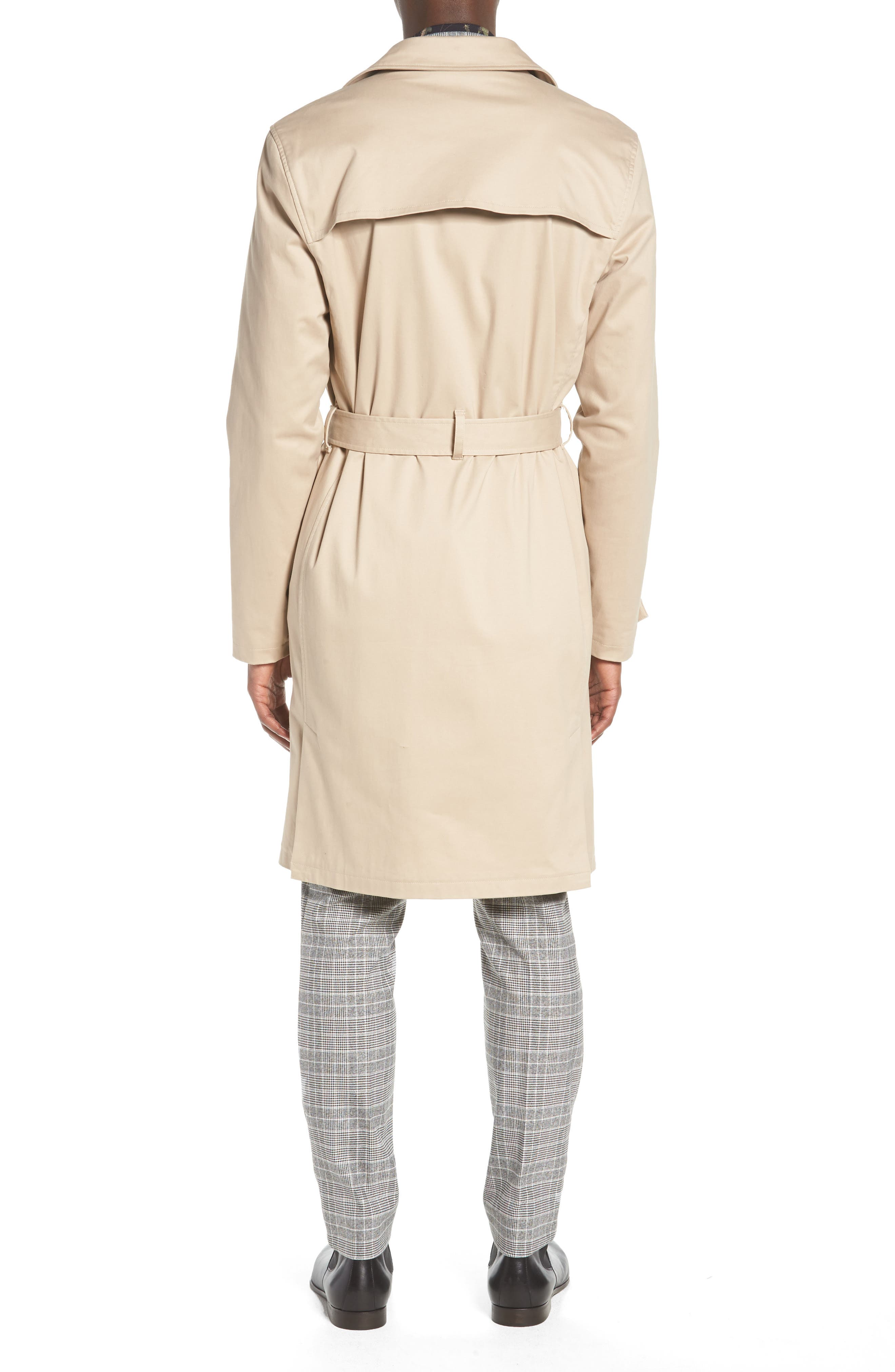 Peached Trench Coat,                             Alternate thumbnail 2, color,                             STONE