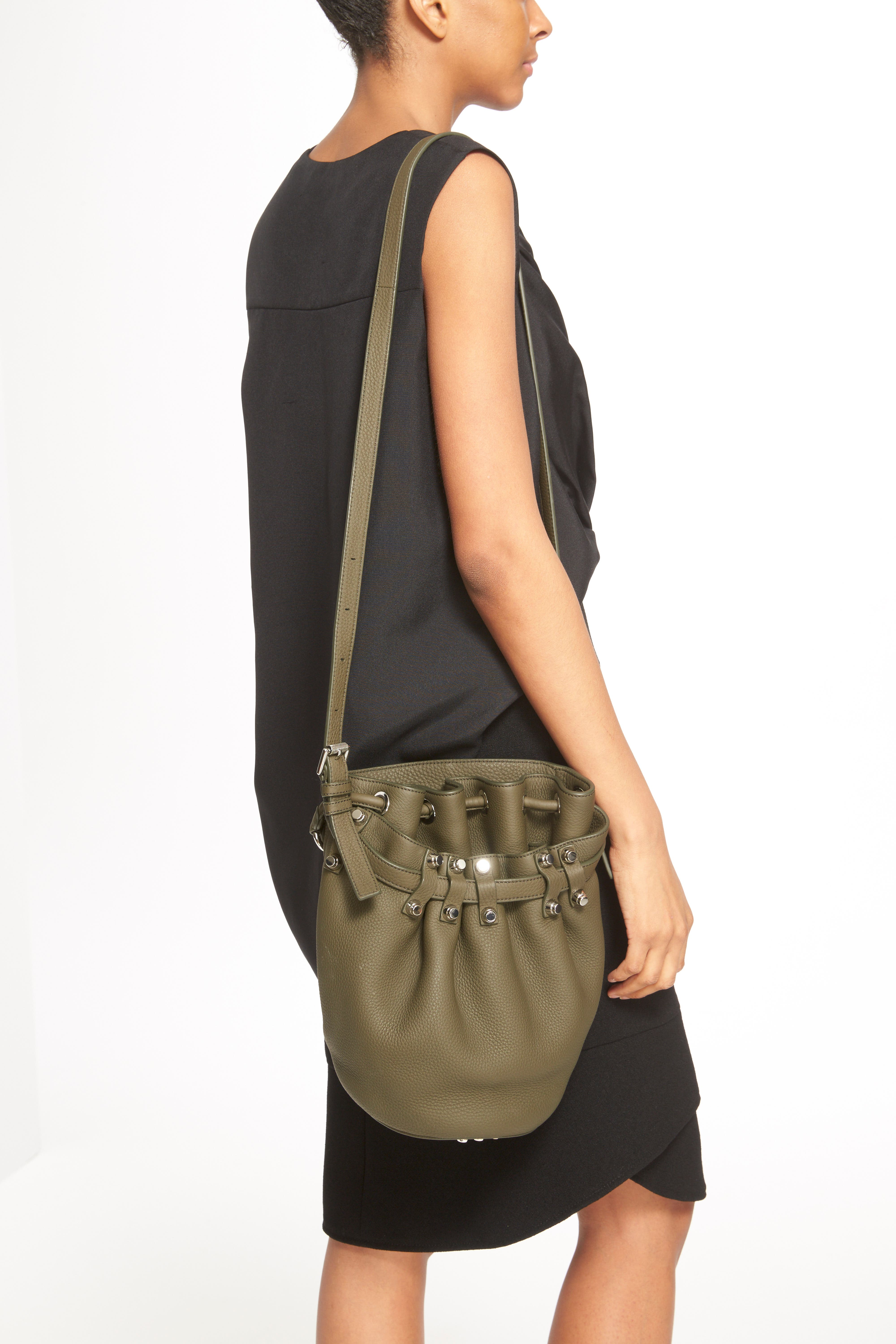 'Small Diego - Nickel' Leather Bucket Bag,                             Alternate thumbnail 3, color,                             342