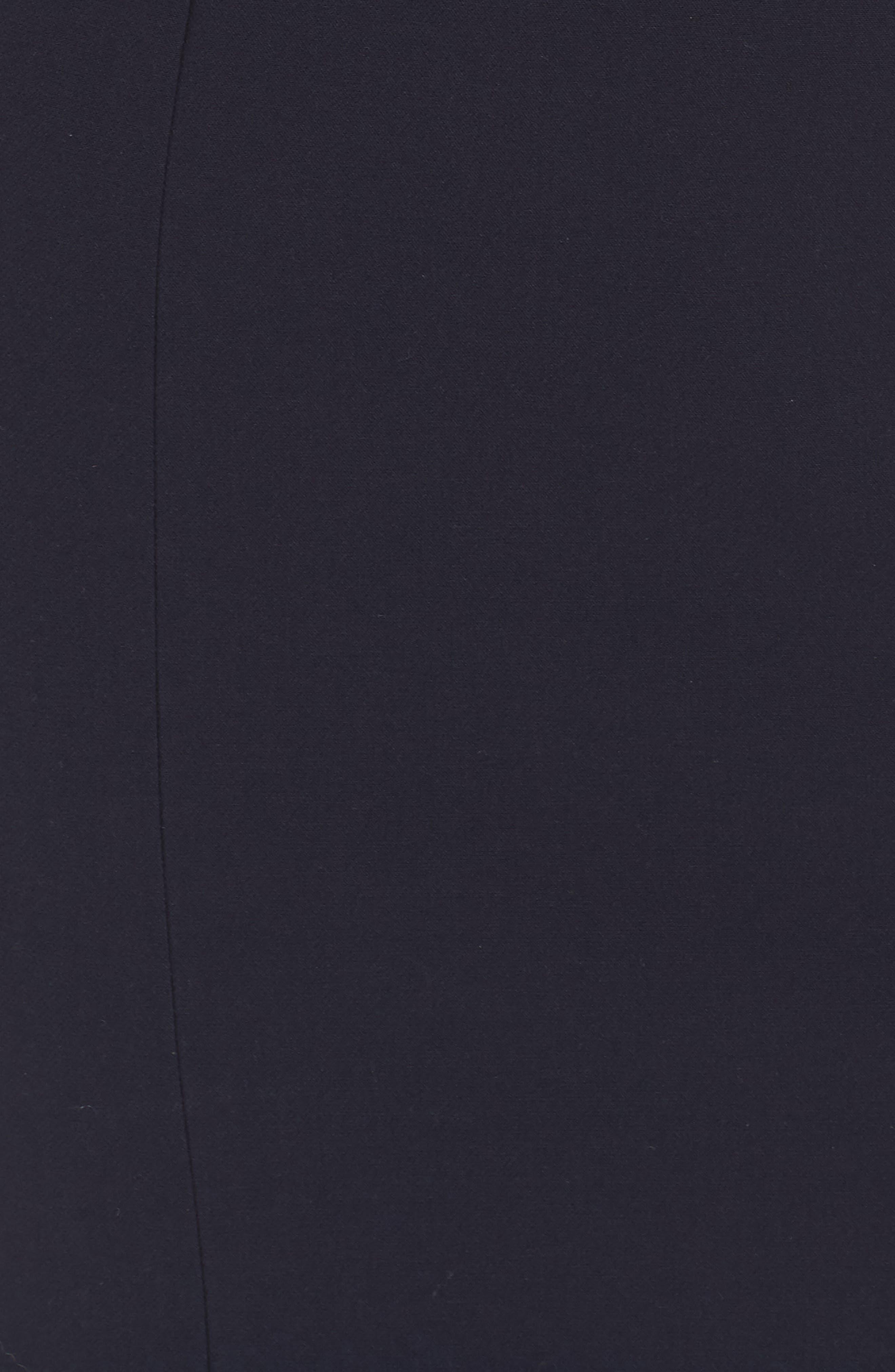 Star Neckline Crepe Sheath Dress,                             Alternate thumbnail 7, color,                             DARK NAVY