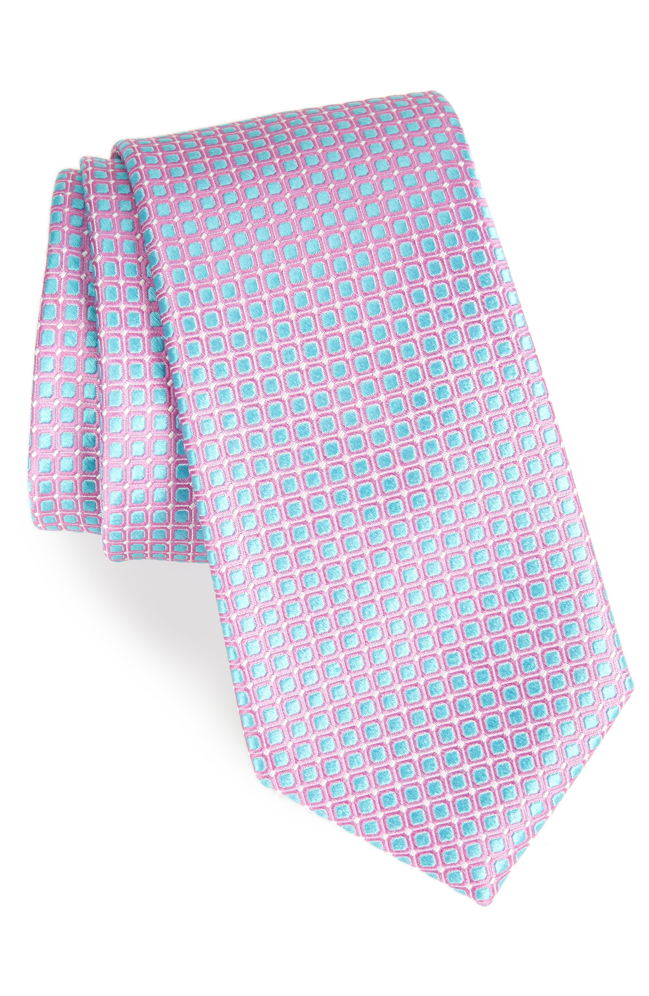 Laguna Check Silk Tie,                             Main thumbnail 6, color,