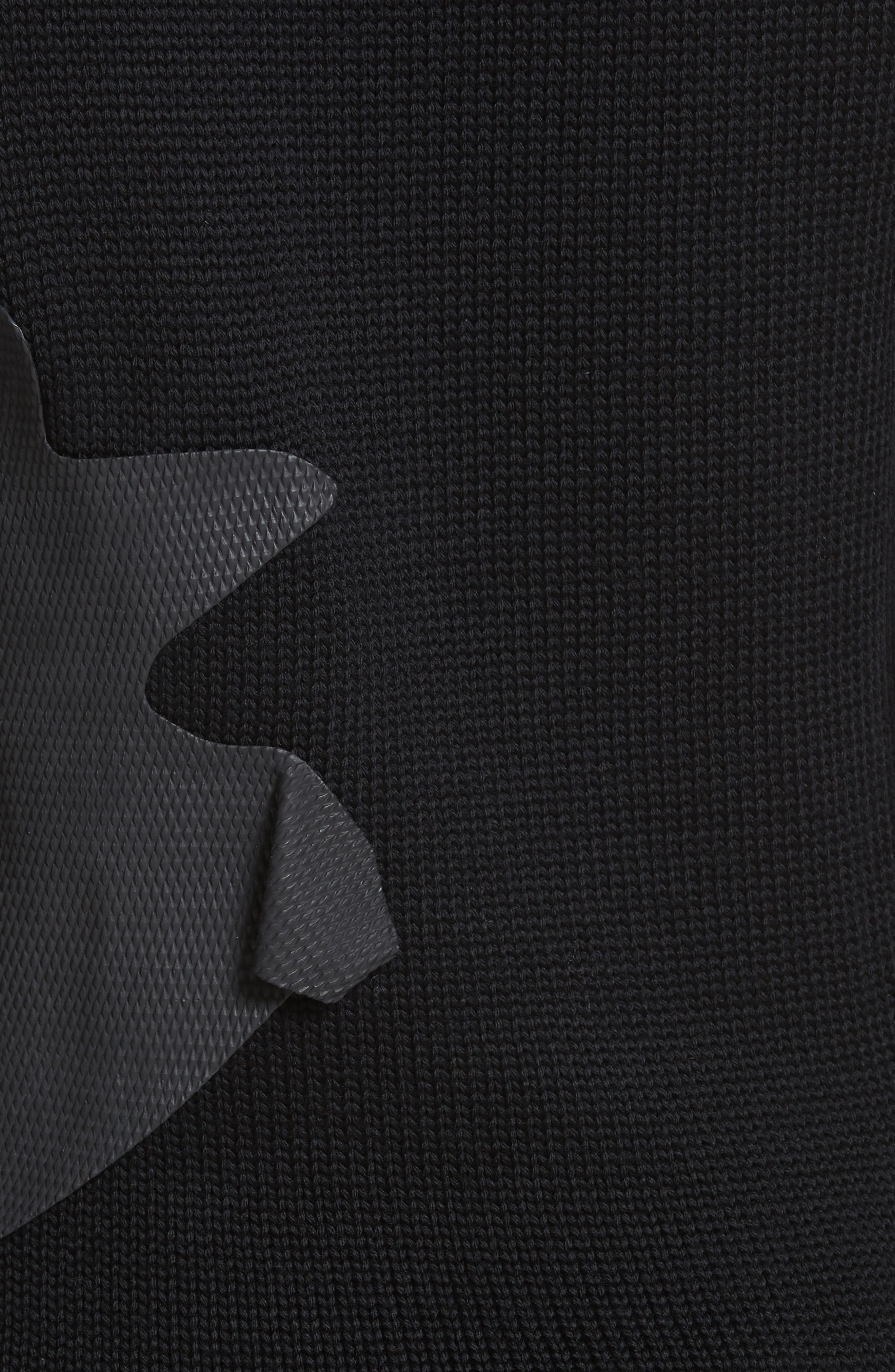 Rubber Detail Wool Sweater,                             Alternate thumbnail 5, color,                             003
