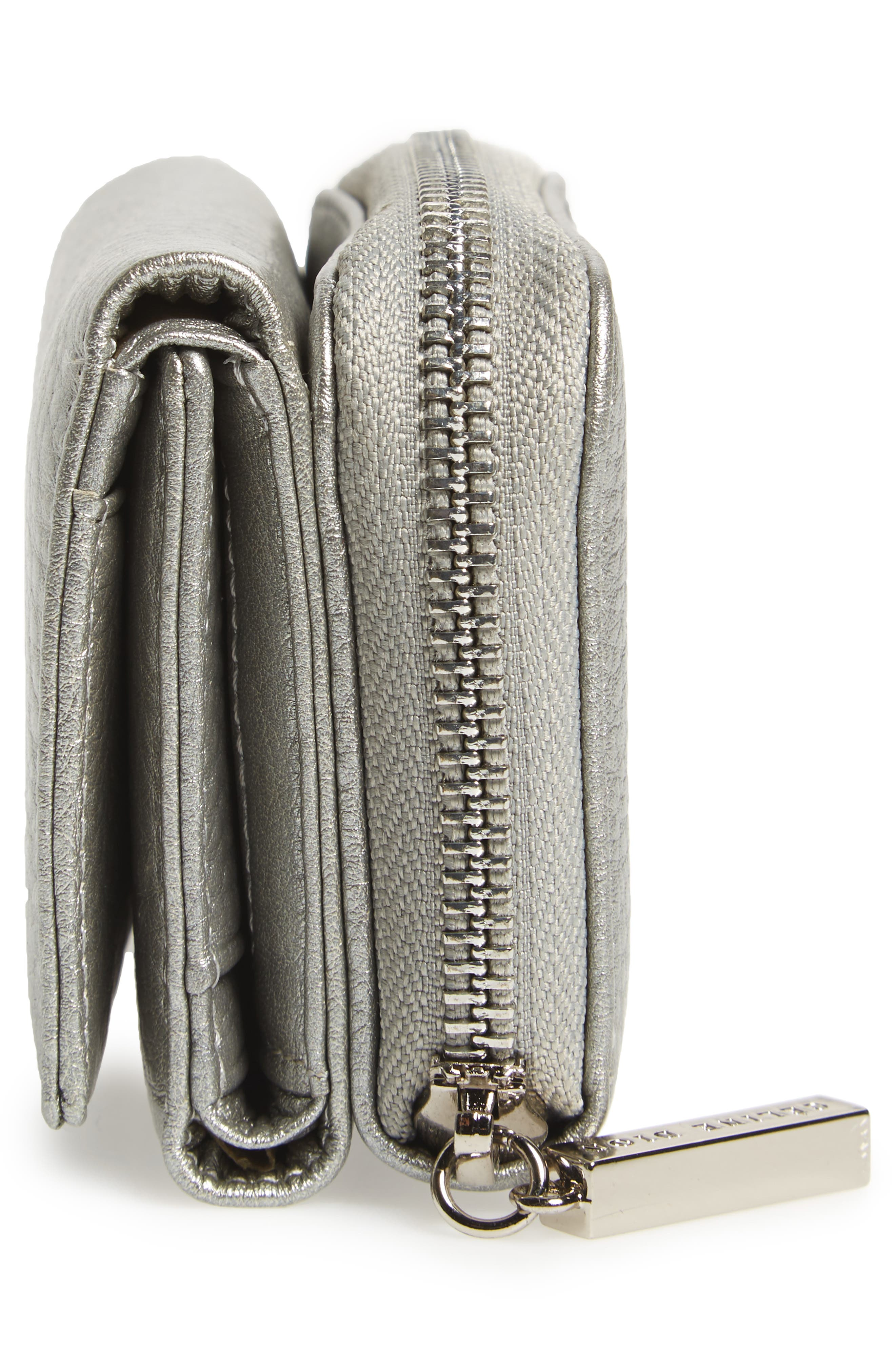 Céline Dion Small Adagio Leather Wallet,                             Alternate thumbnail 17, color,