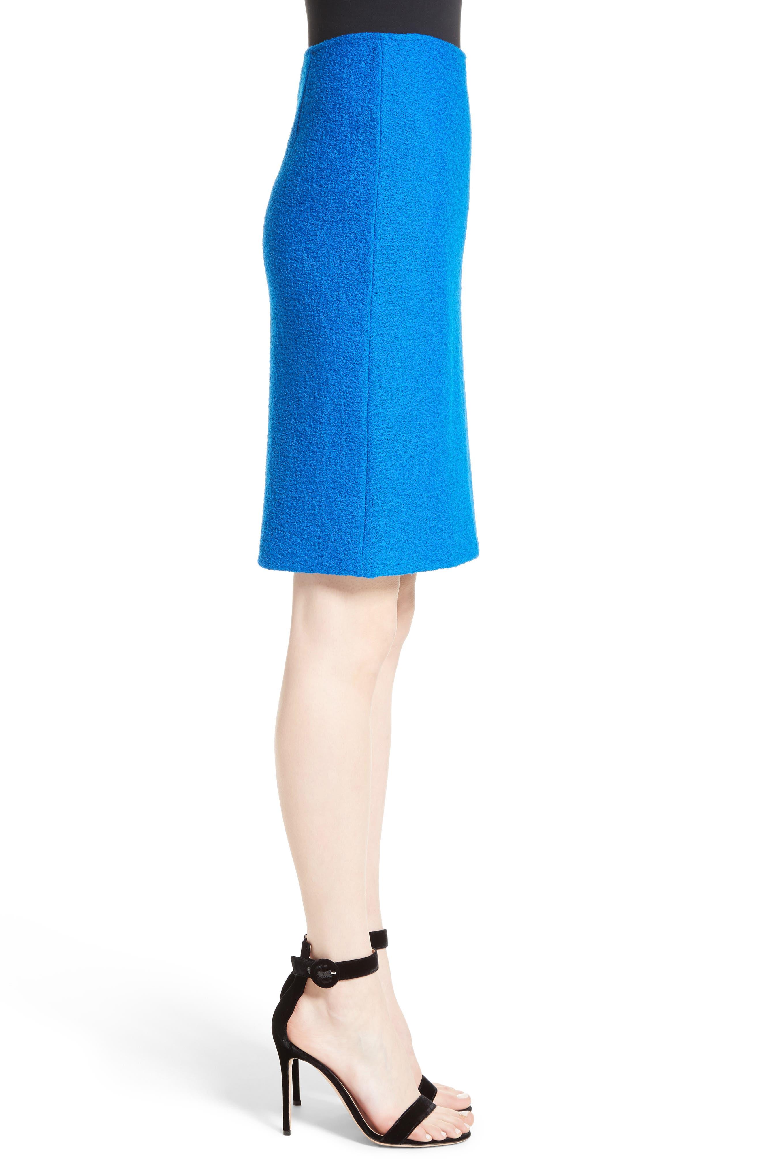 Clair Knit Pencil Skirt,                             Alternate thumbnail 3, color,                             430