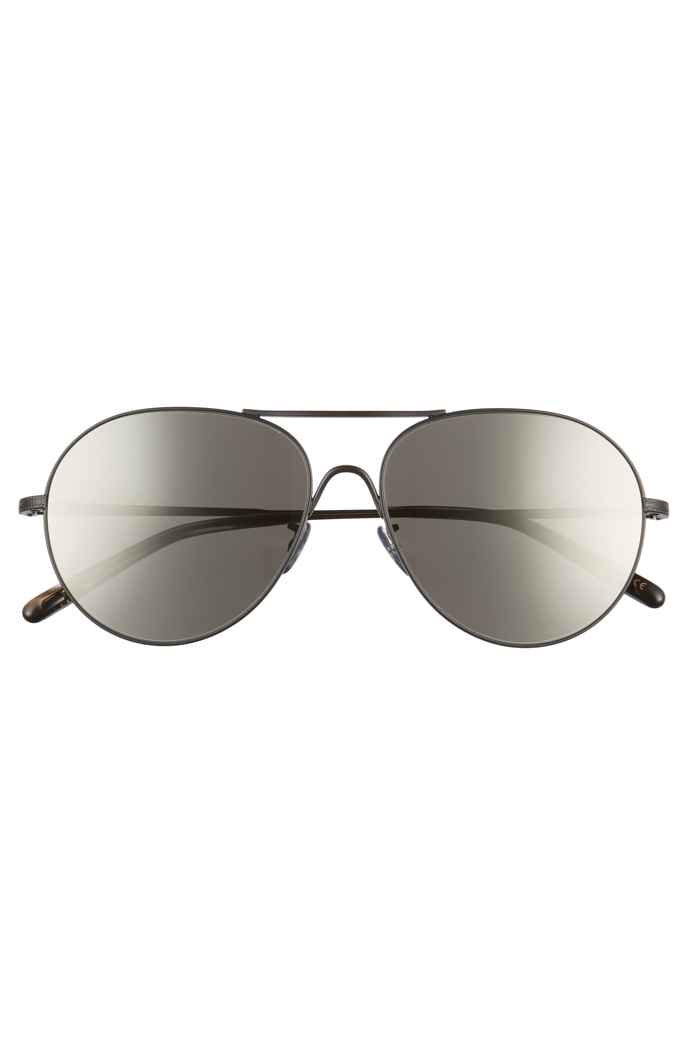 Rockmore 58mm Aviator Sunglasses,                             Alternate thumbnail 3, color,                             GREY