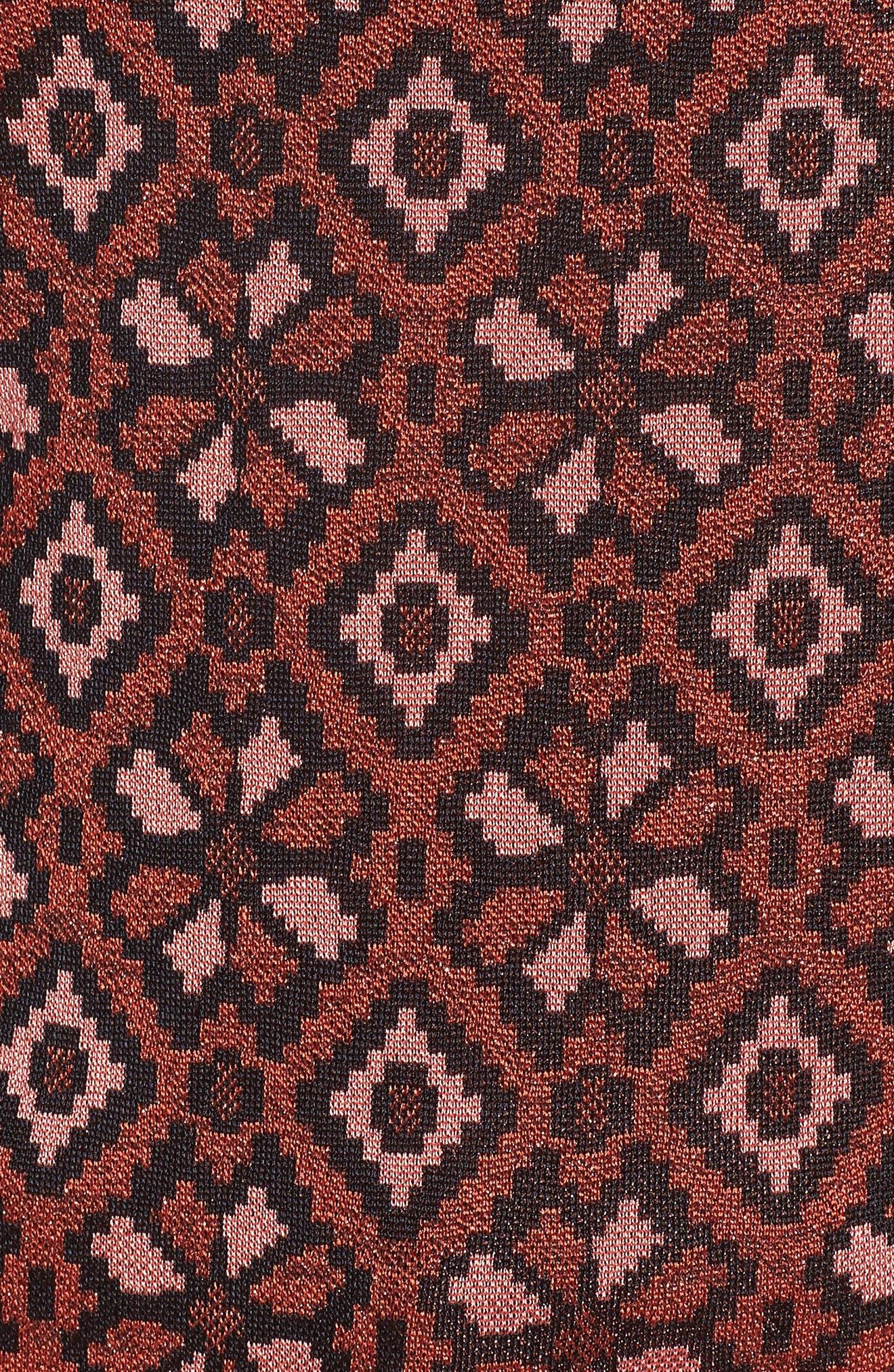 Tile Pattern Keyhole Sweater,                             Alternate thumbnail 5, color,                             600