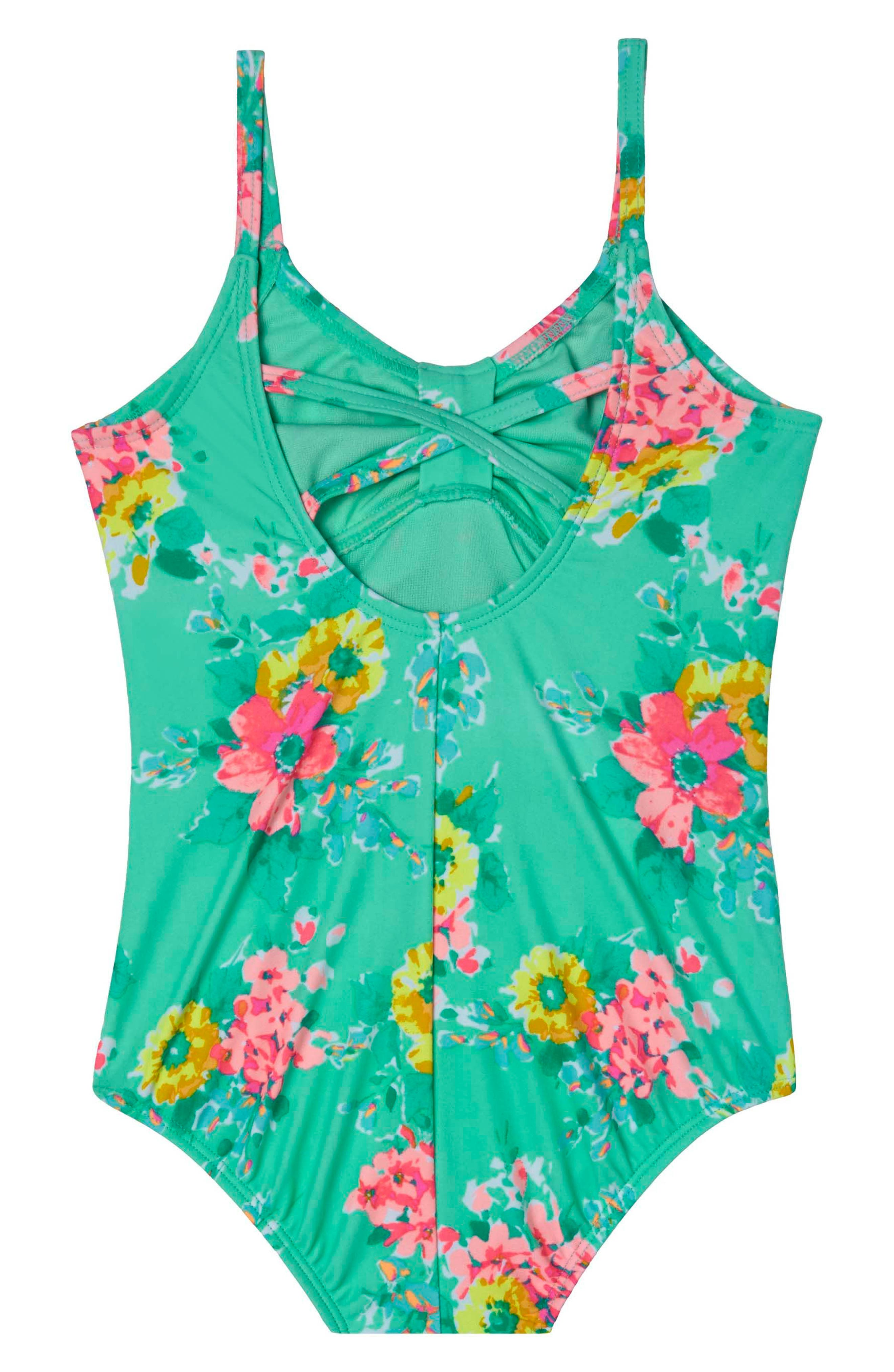 HULA STAR Garden Dream One-Piece Swimsuit, Main, color, 308