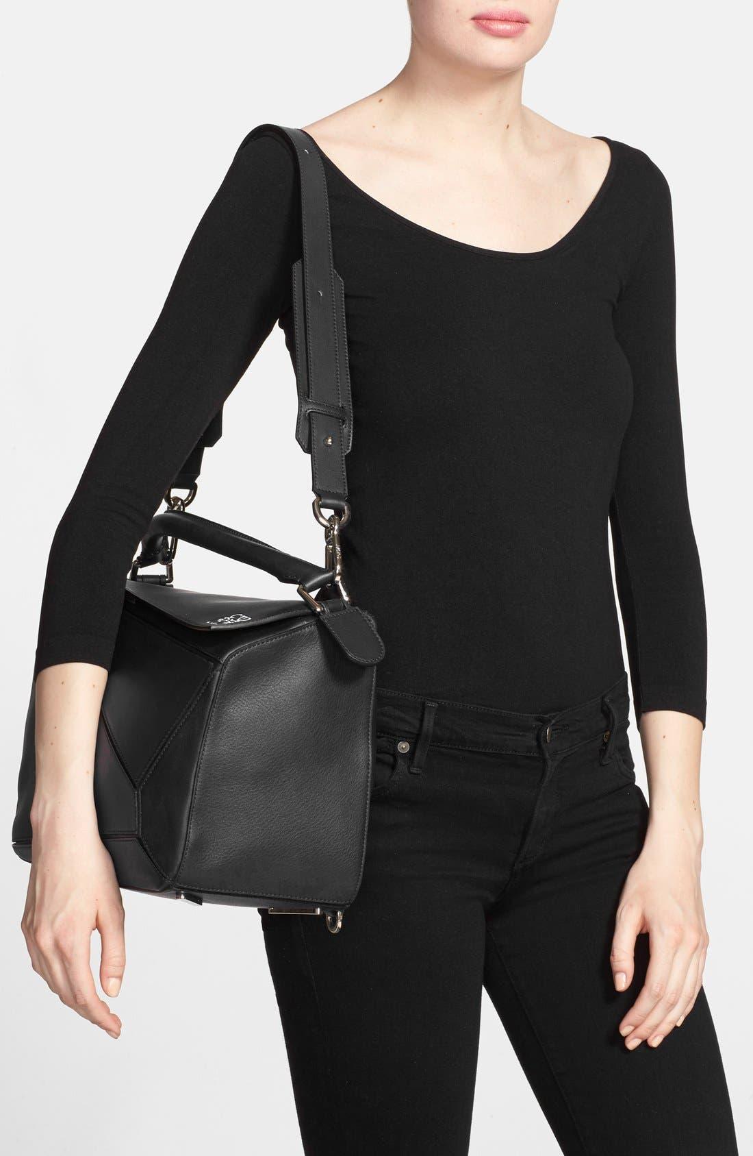 'Large Puzzle' Calfskin Leather Bag,                             Alternate thumbnail 2, color,                             001